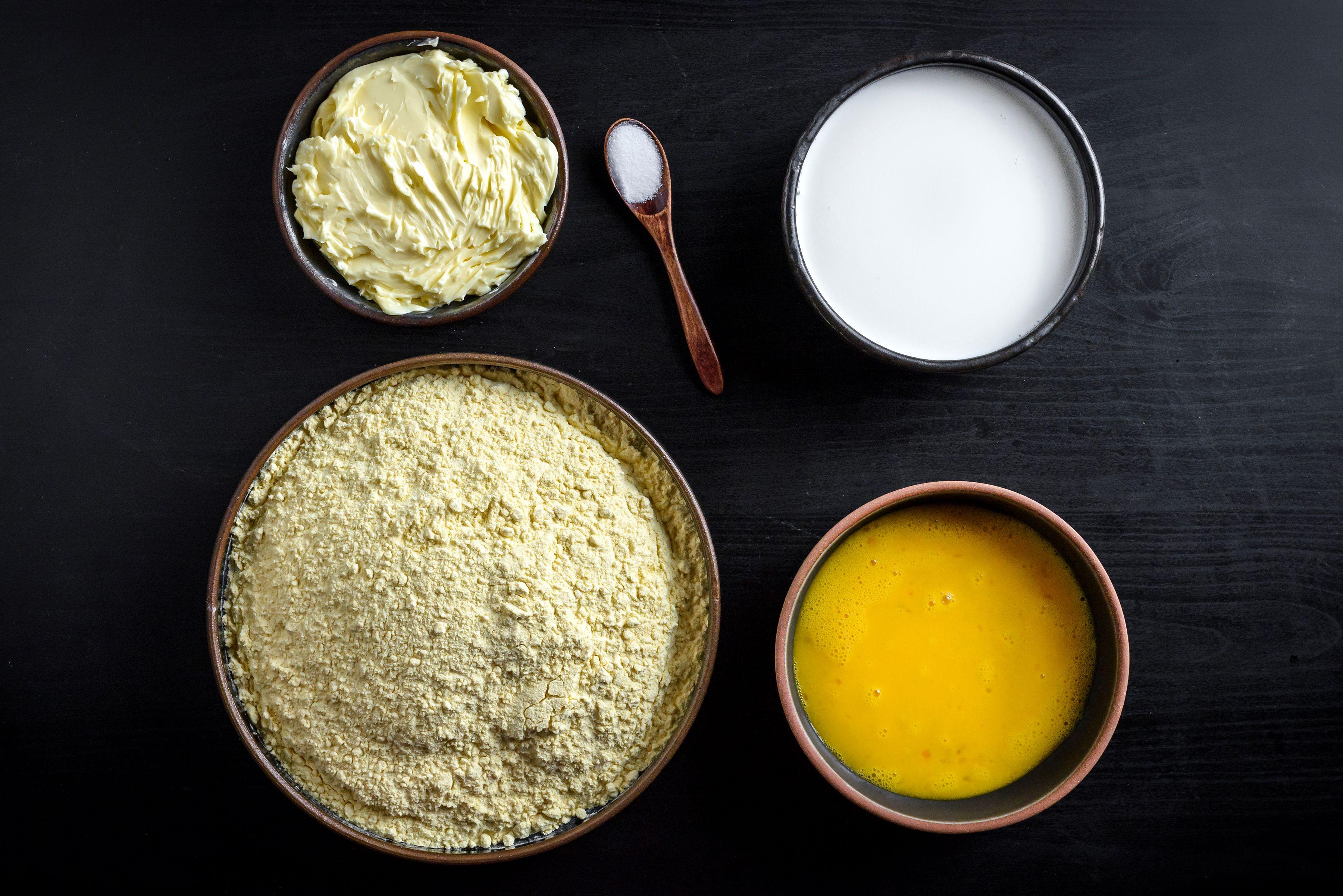 Ingredients for Serbian corn bread