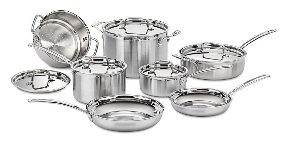 Best Overall Cuisinart Multiclad Pro Stainless Steel 12 Piece Cookware Set
