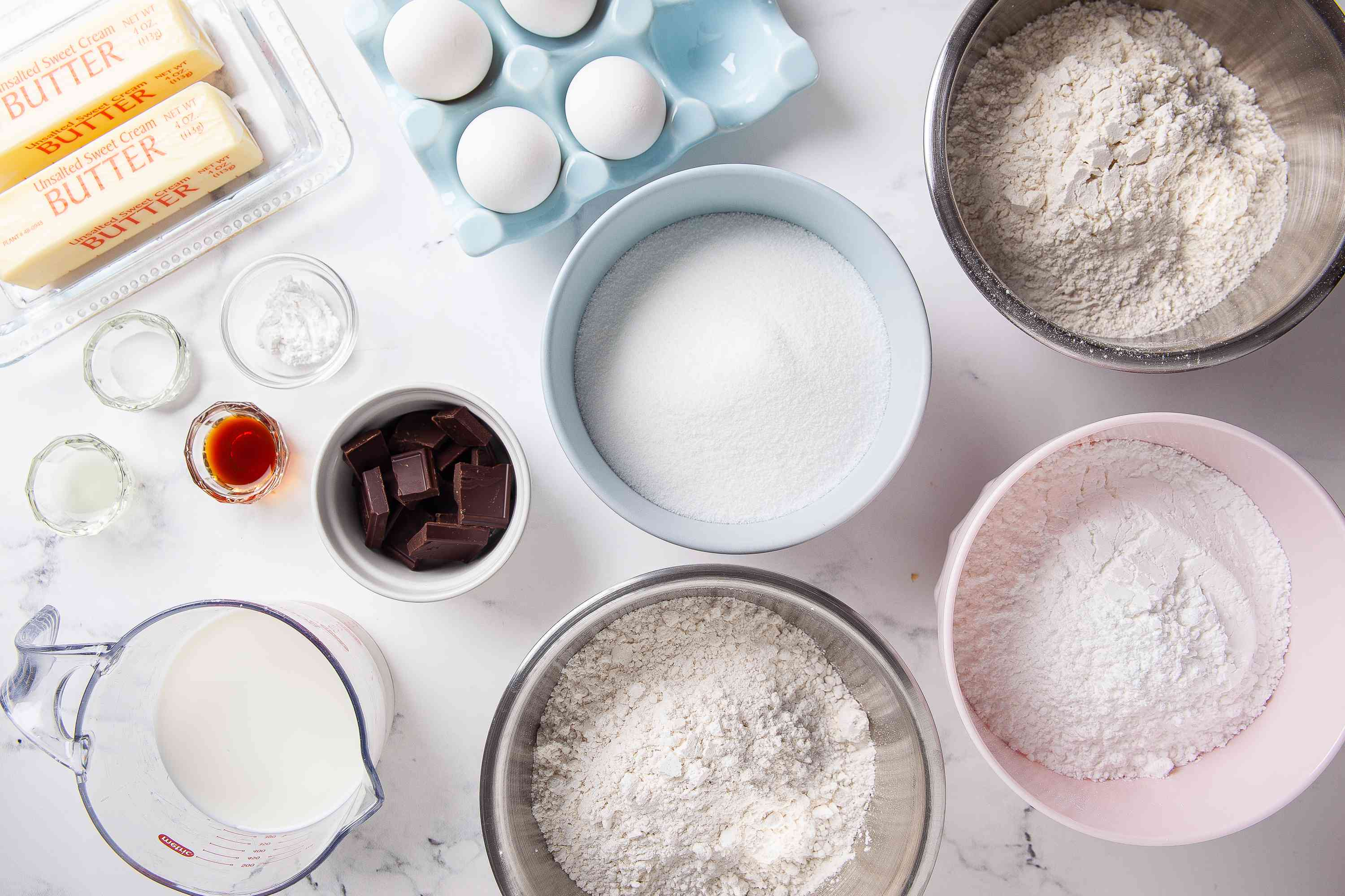 Ingredients for Black and White Cookies