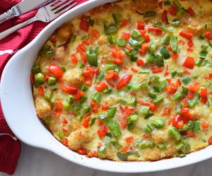 turn leftover christmas ham into a cheesy breakfast casserole