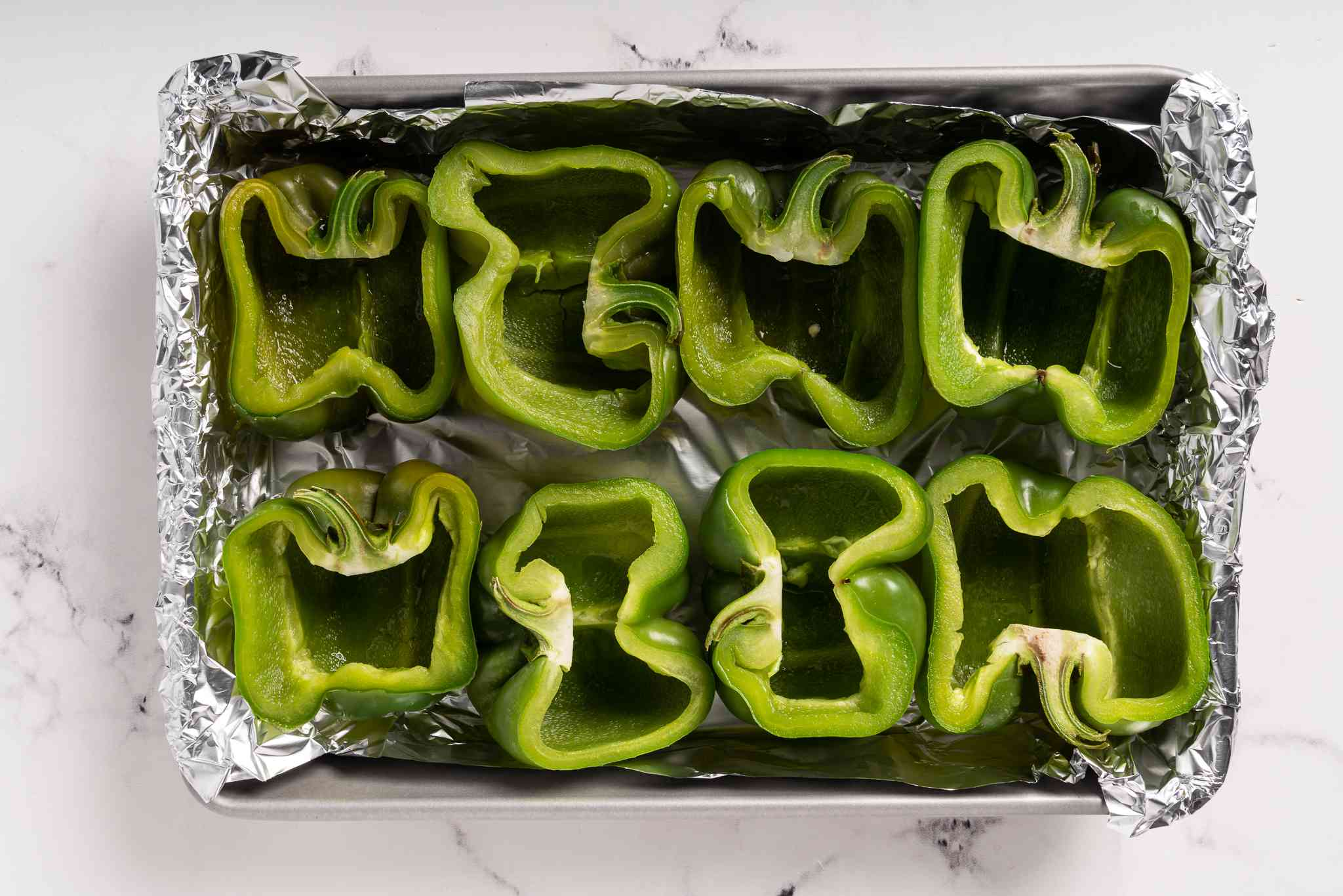 peppers in a baking dish