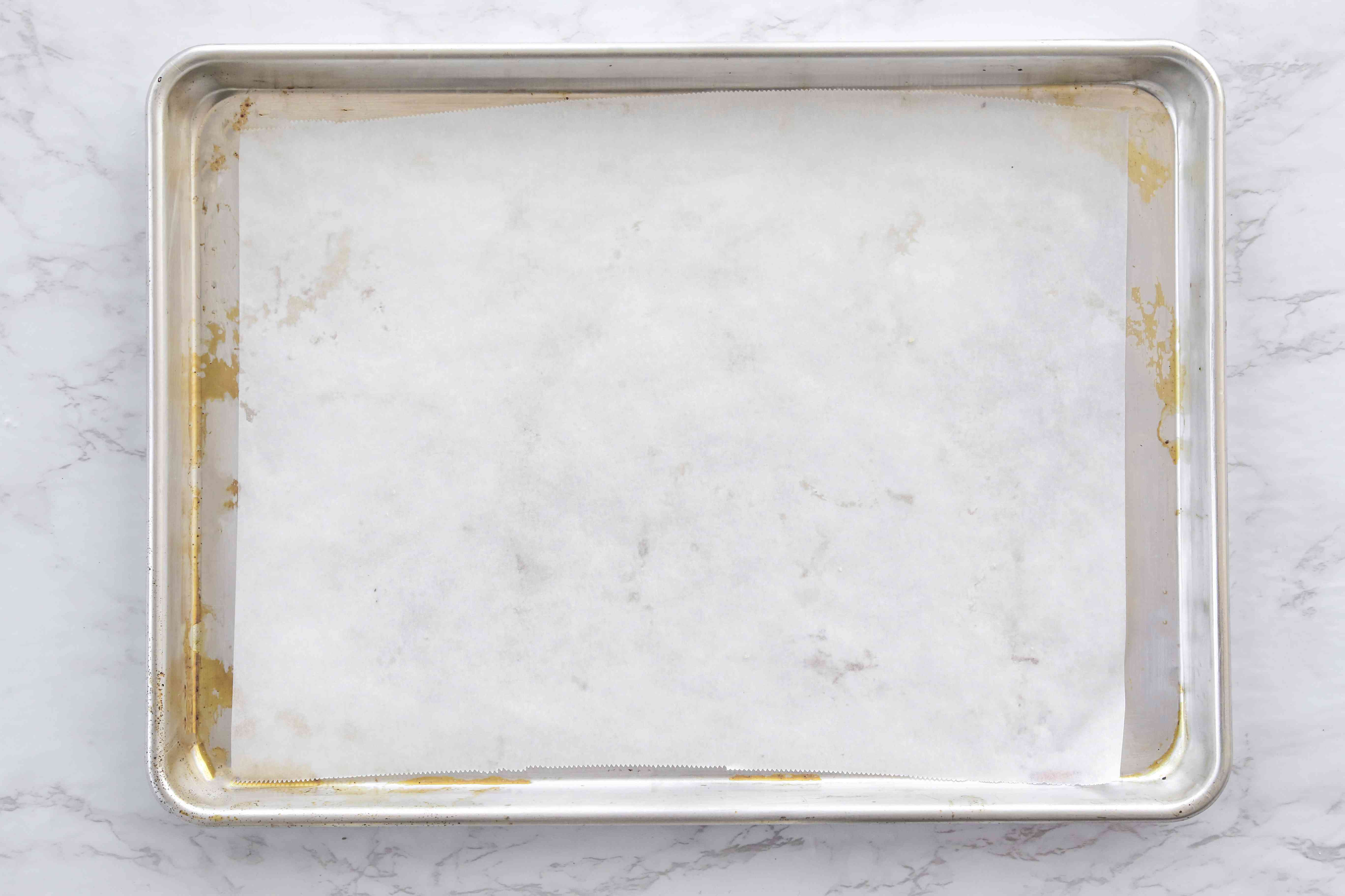 baking sheet with parchment paper
