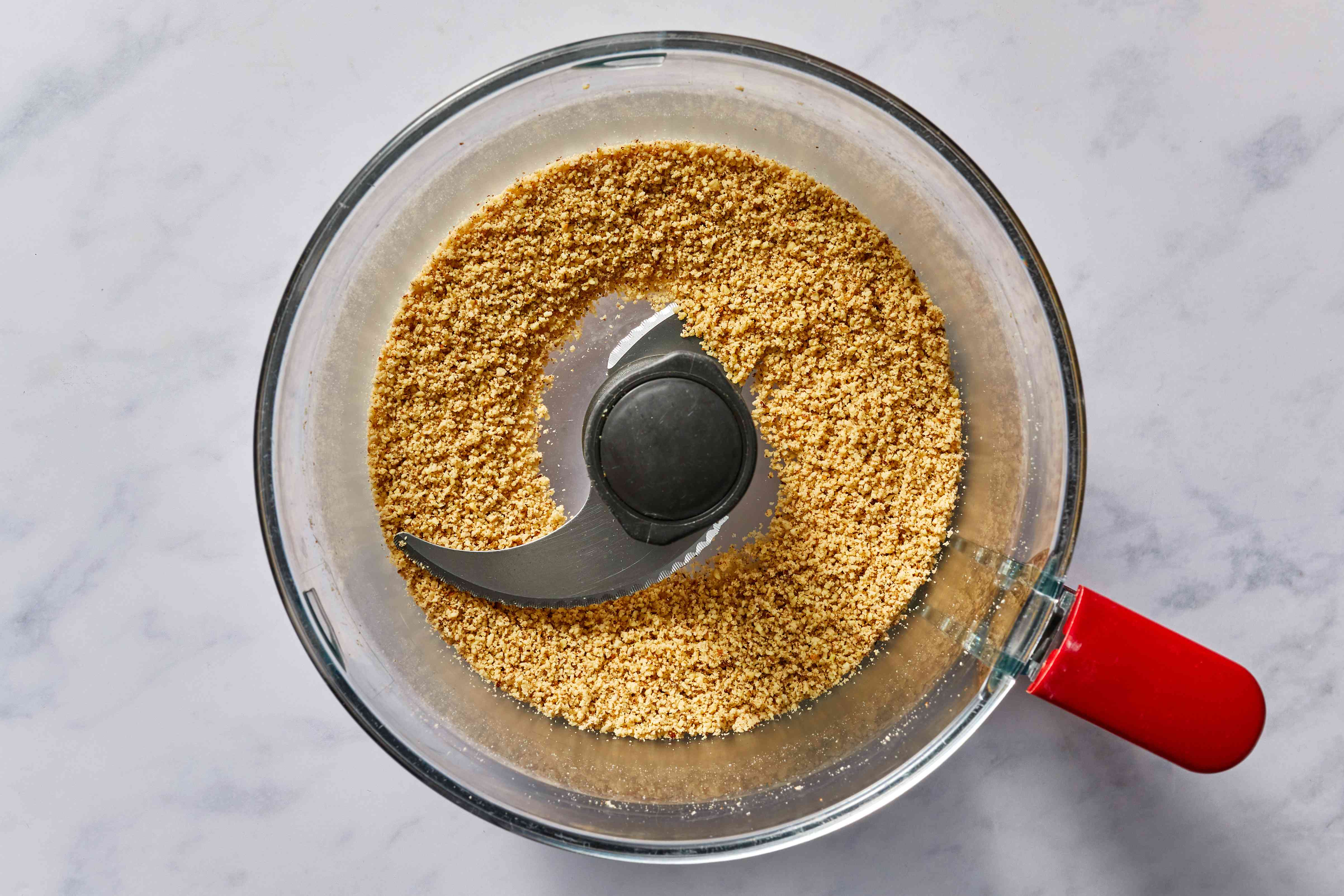 almonds in a food processor