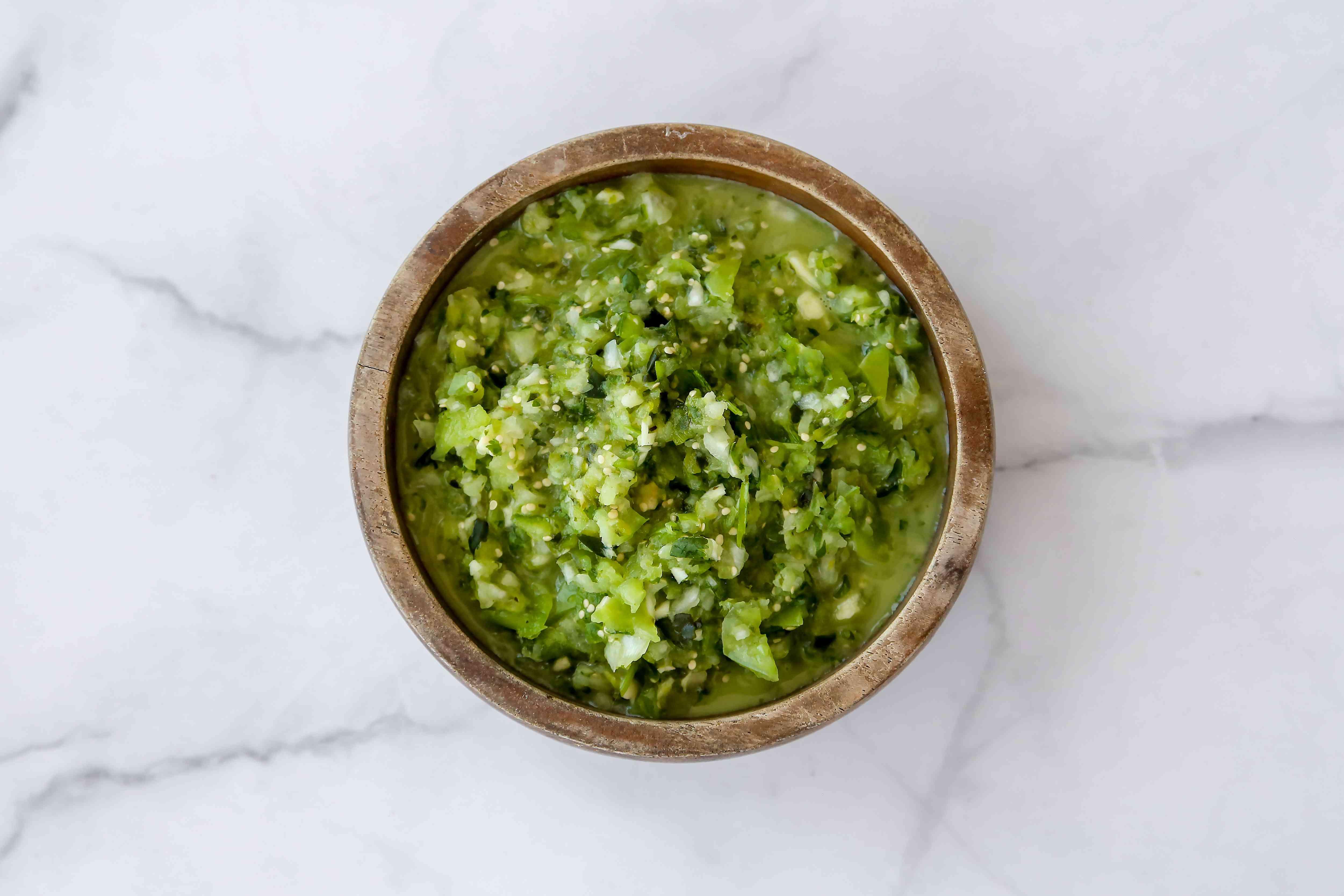 Salsa Verde in a bowl