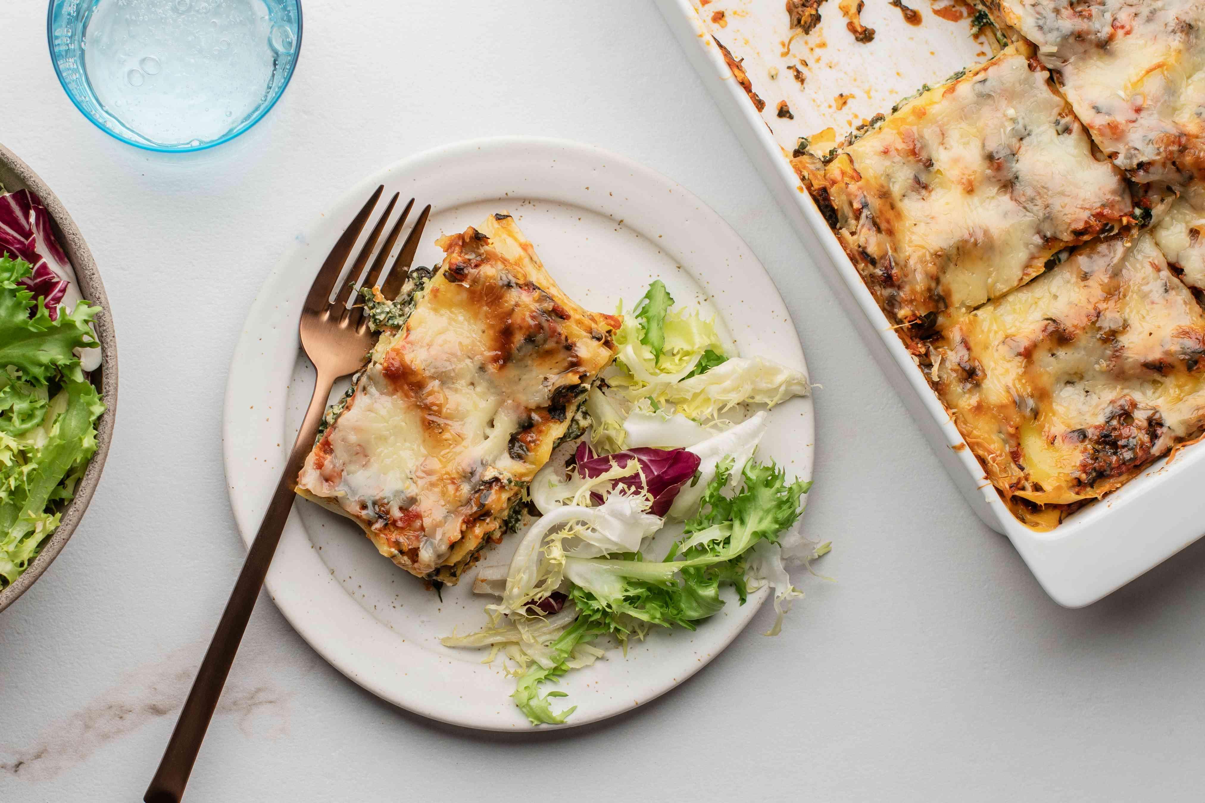 Perfect spinach lasagna recipe