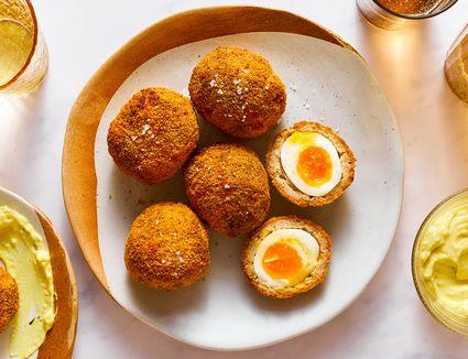 Classic Scotch Eggs With Creamy Mustard Sauce