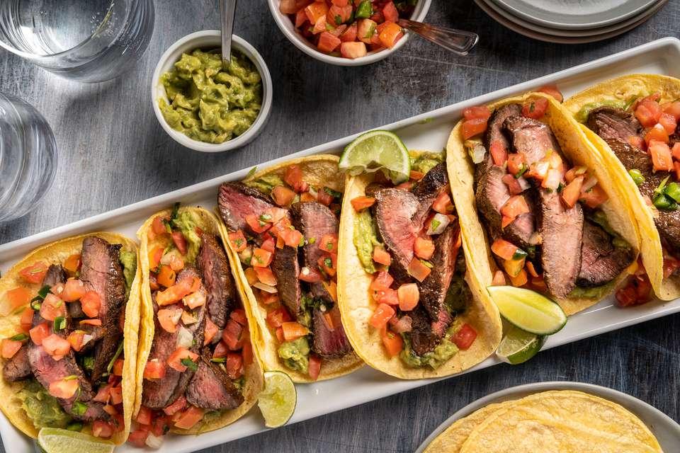 Flat-Iron Steak Tacos