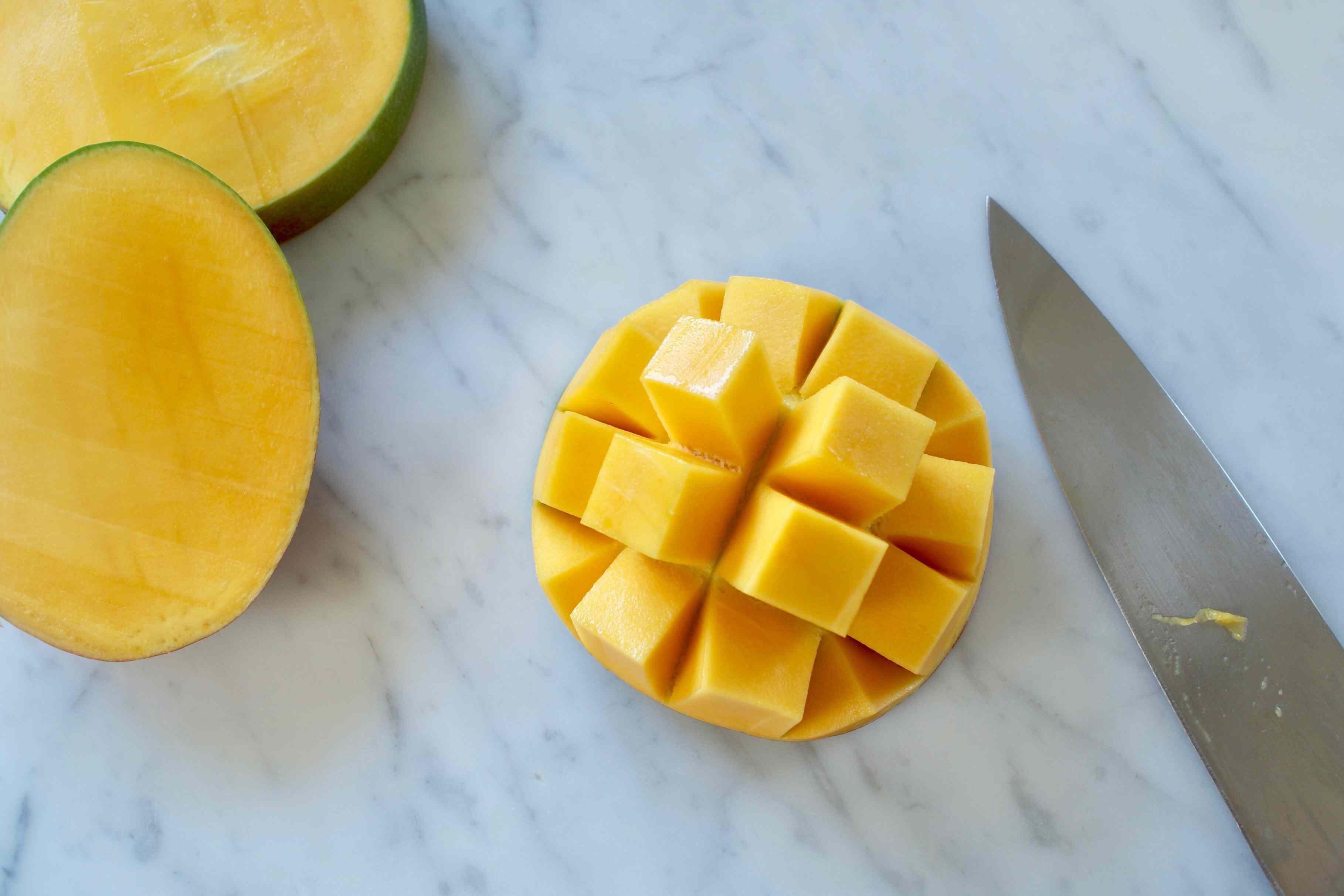 Scored and Flipped Mango