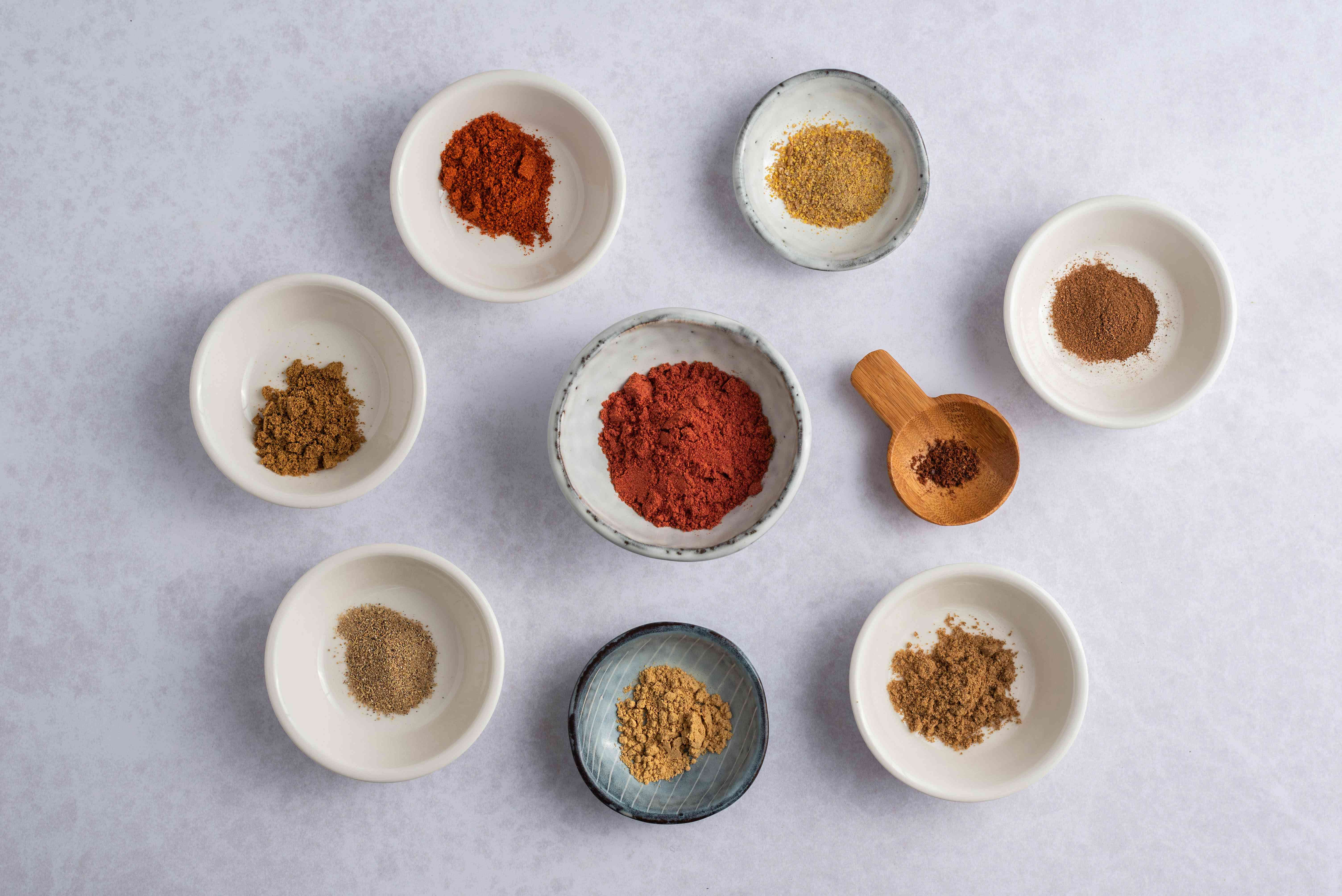 Ingredients for durban curry masala