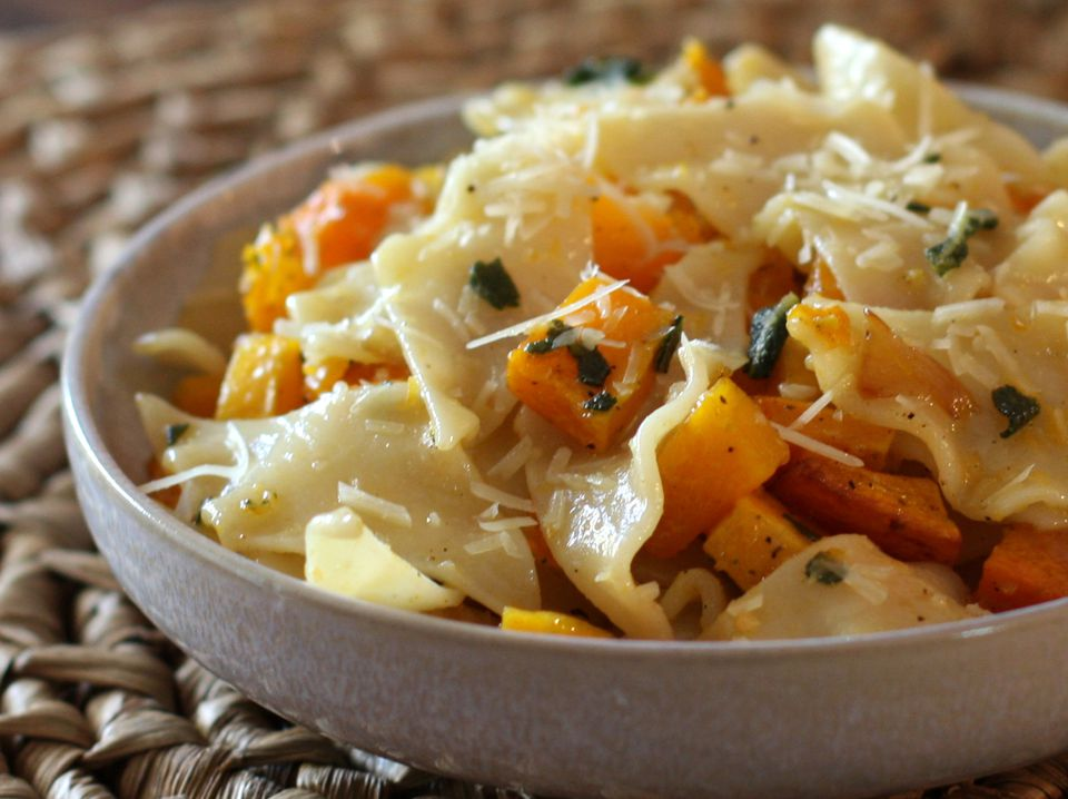Butternut Squash Pasta in bowl