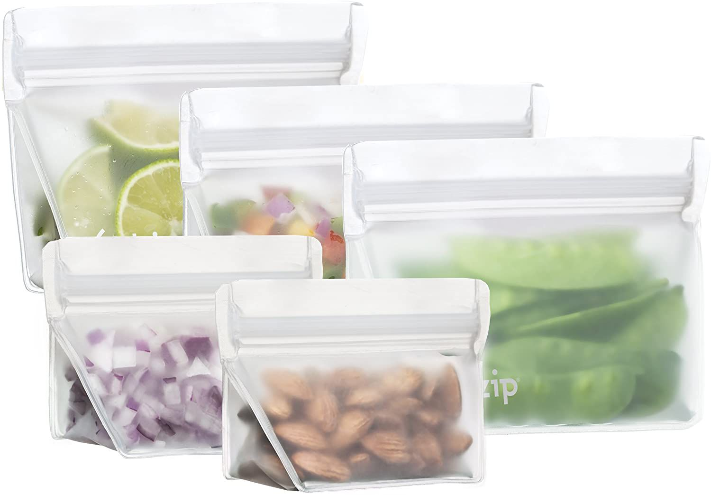re(zip) 5-Piece Stand-Up Leakproof Reusable Storage Bag Starter Kit