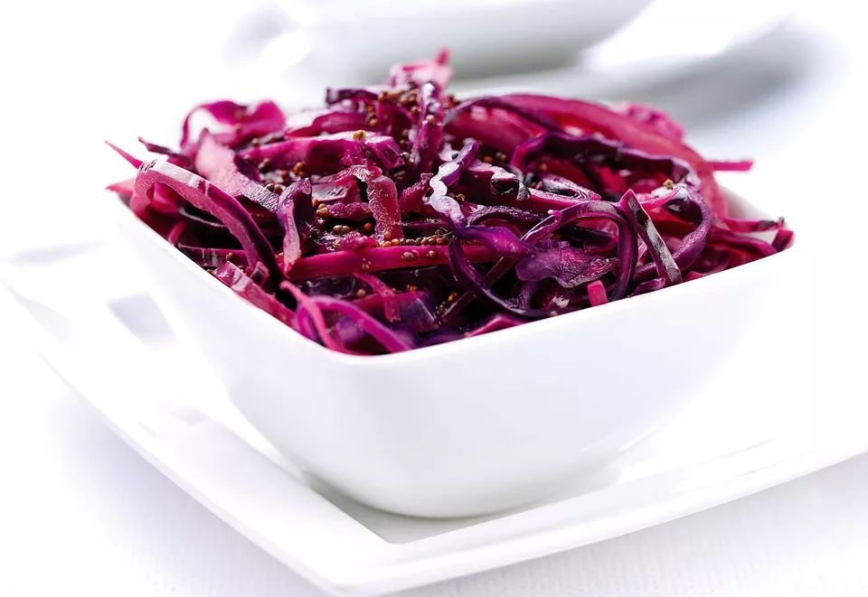 Sauteed Red Cabbage, Apple and Mustard