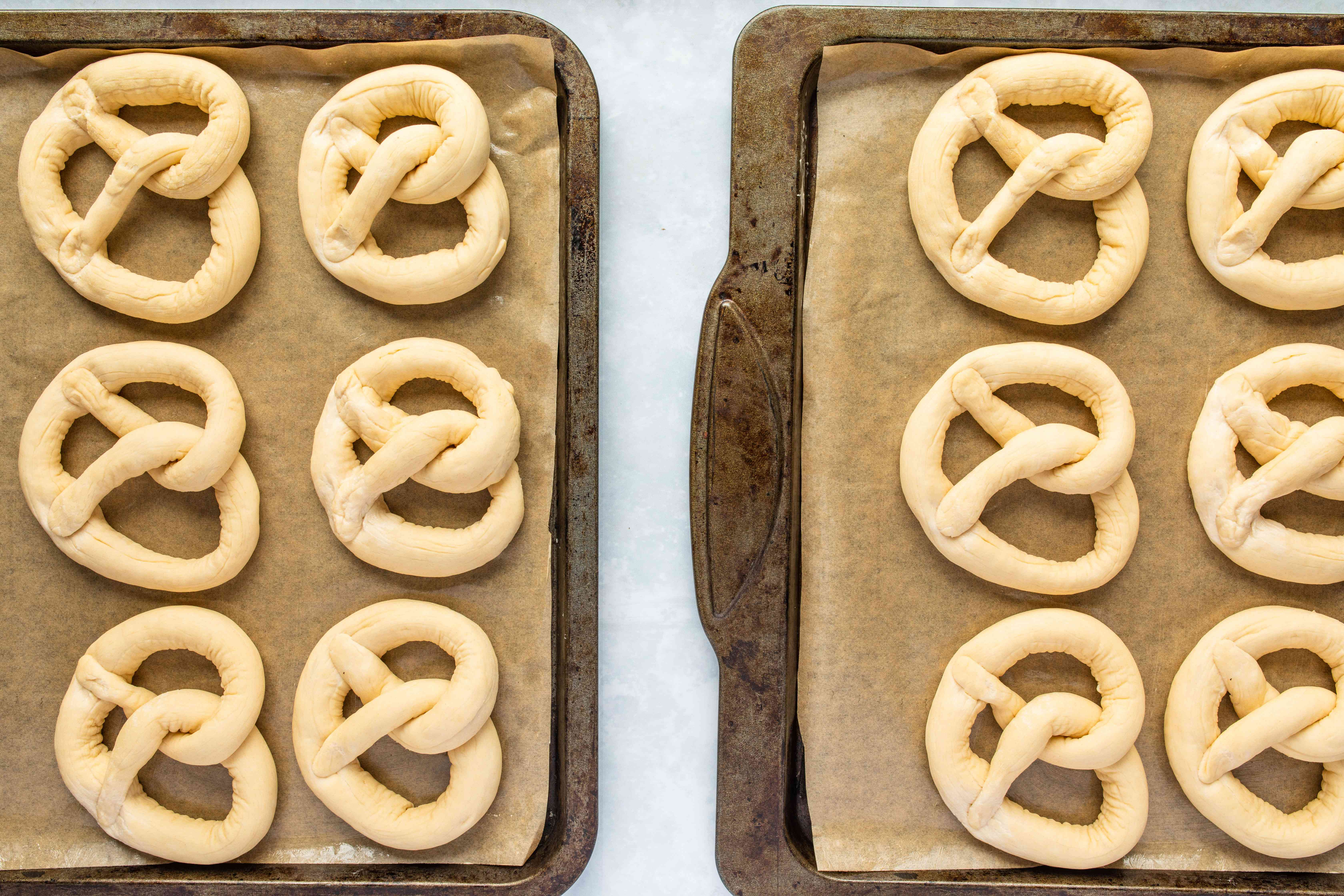 Place pretzels on baking sheet