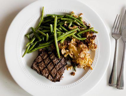 Snap Kitchen steak on plate