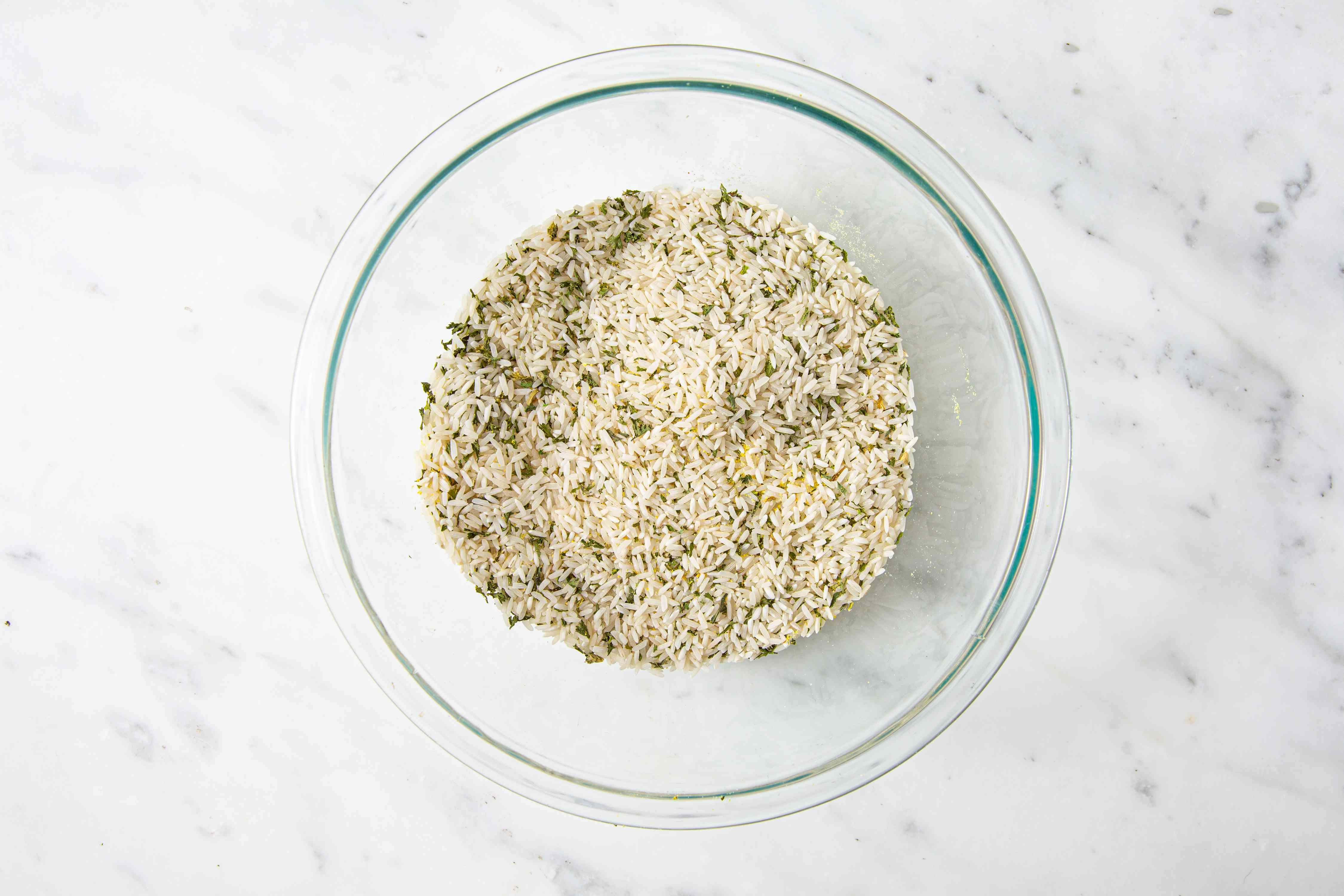 Seasoned Rice Mix ingredients together in a bowl