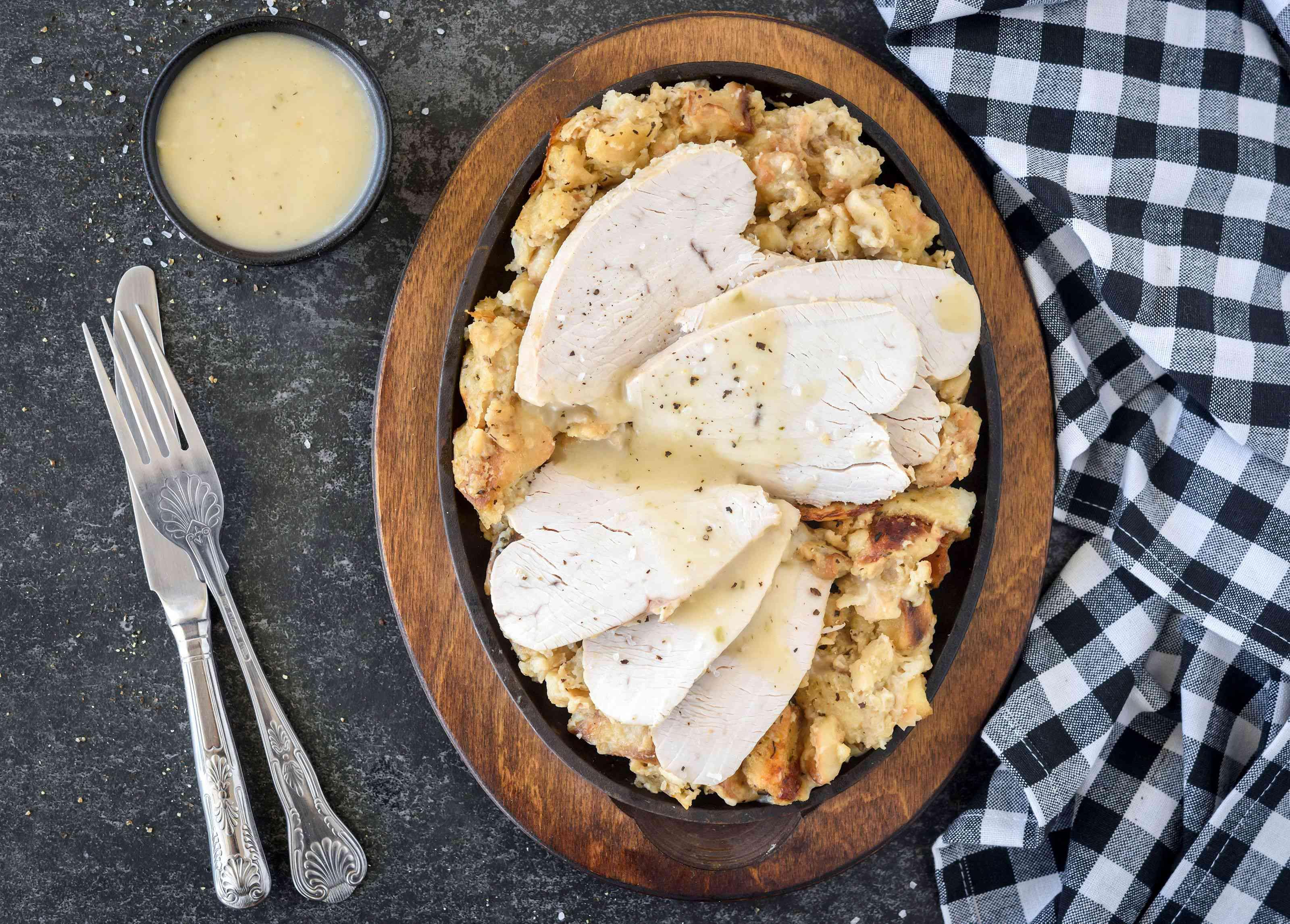 Simple crock pot turkey with dressing