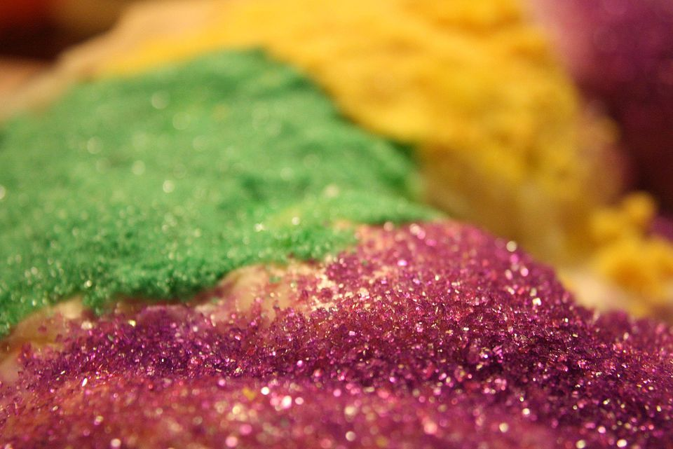 Glitter on a cake