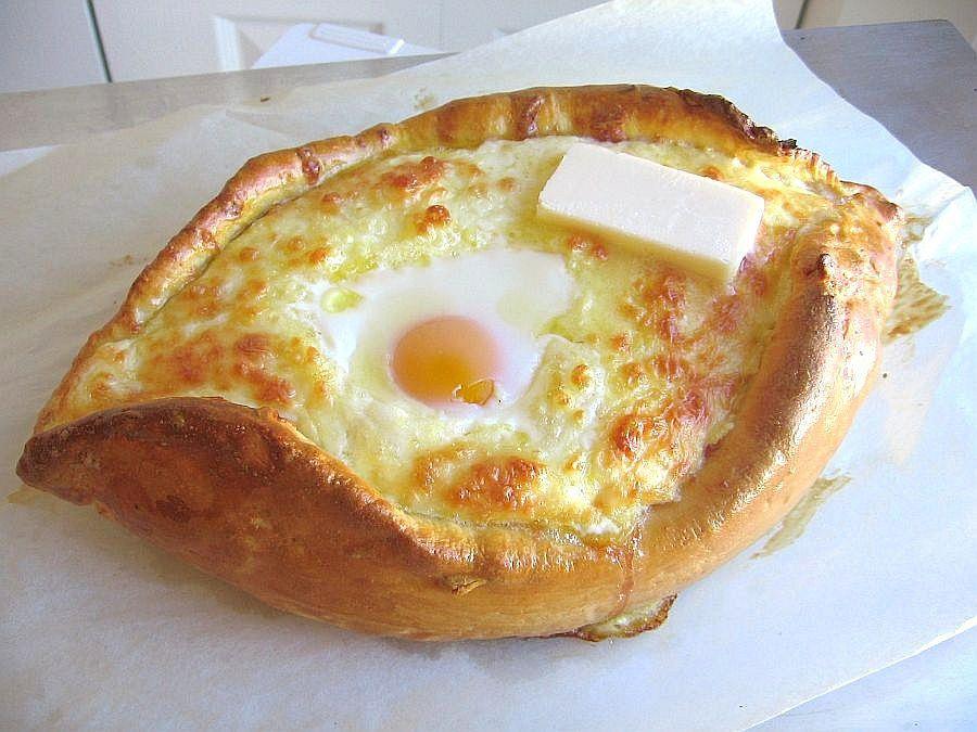 Acharuli Khachapuri - Georgian Cheese Bread