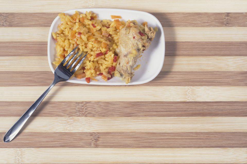 Pollo y arroz español