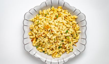 sautéed spaetzle with butter and parsley