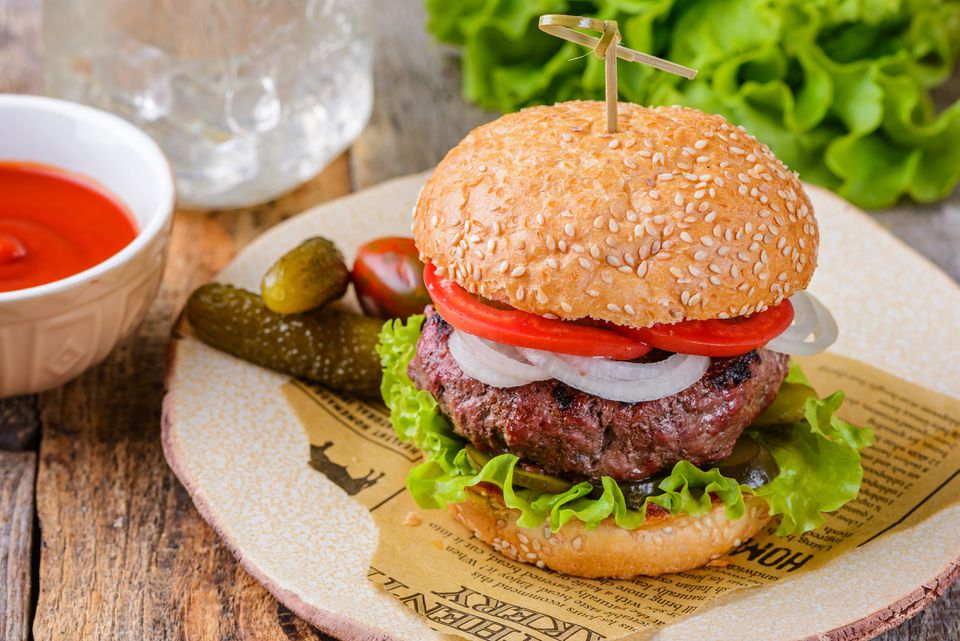 Juicy grilled burger recipe