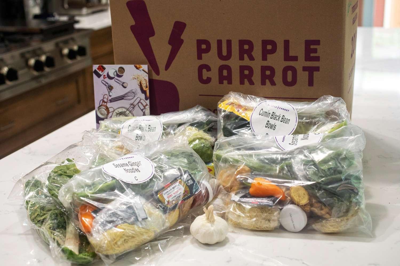 Purple Carrot packaging
