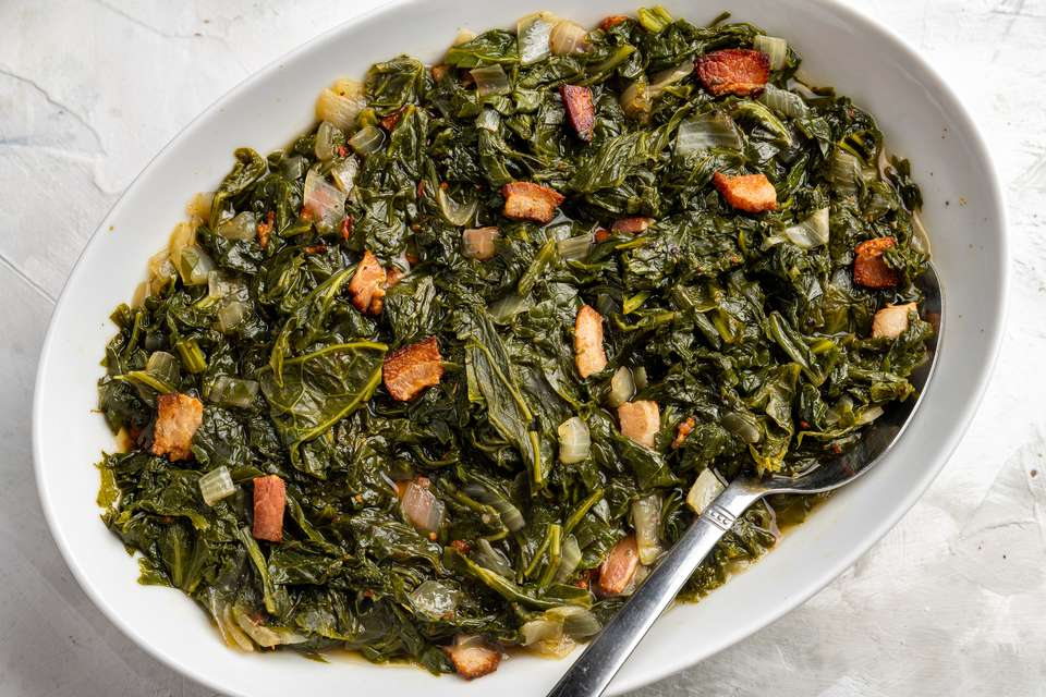 Simple Southern Mustard Greens With Bacon