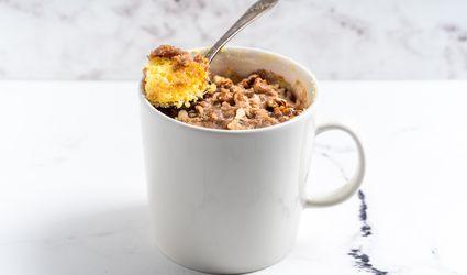 Cinnamon Streusel Coffee Cake in a Mug