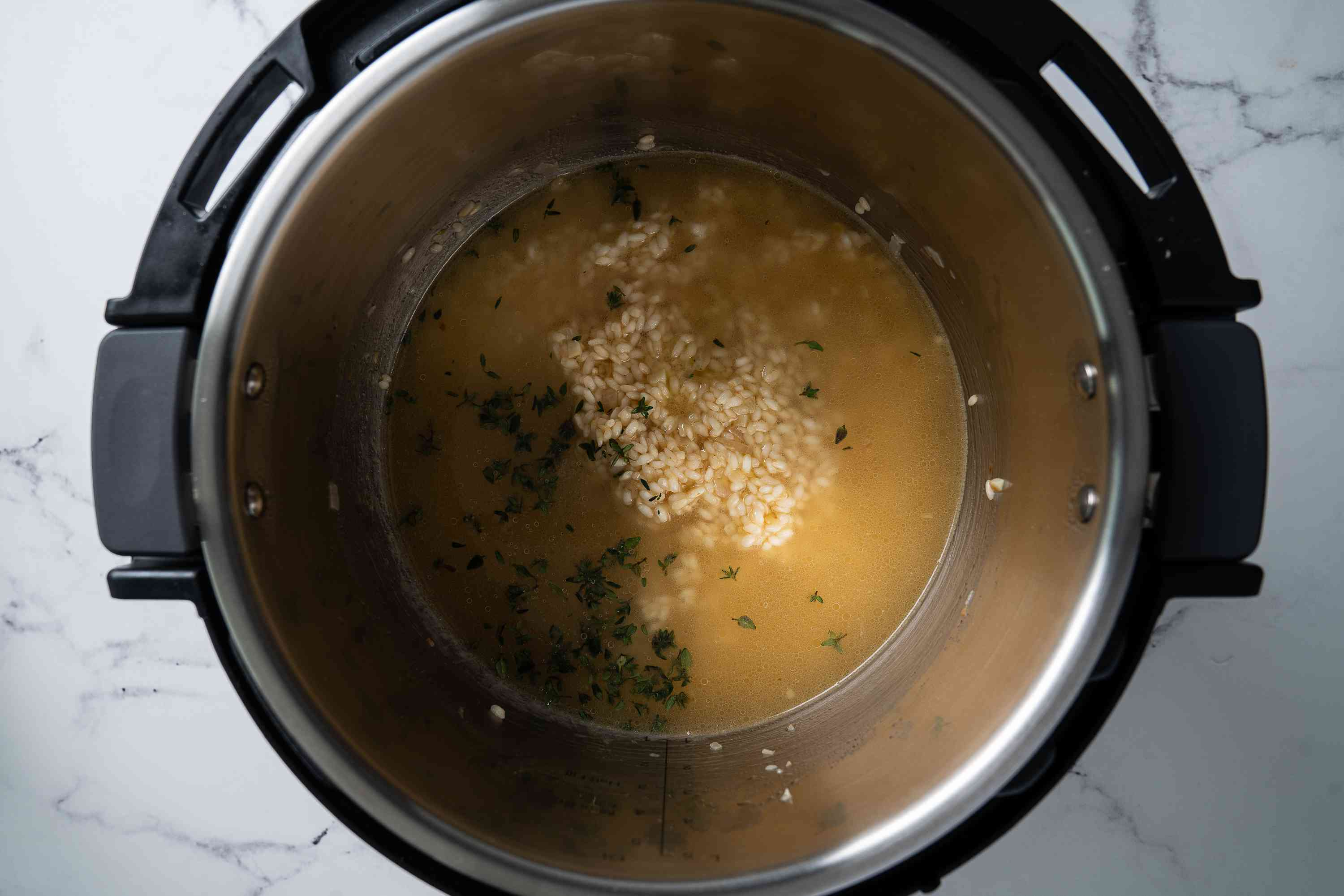 risotto ingredients in Instant Pot