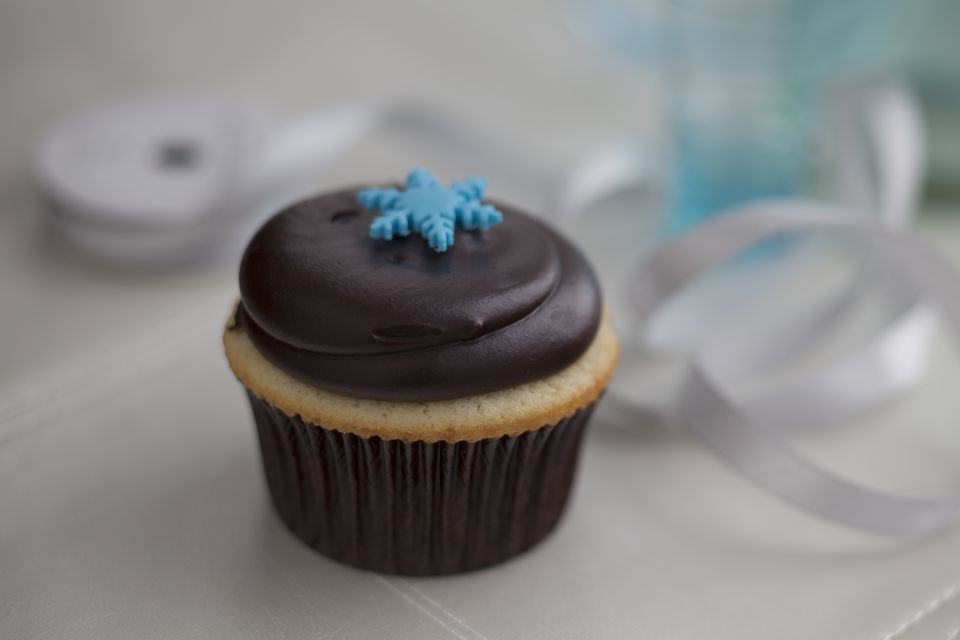 Chocolate And Vanilla Cupcake