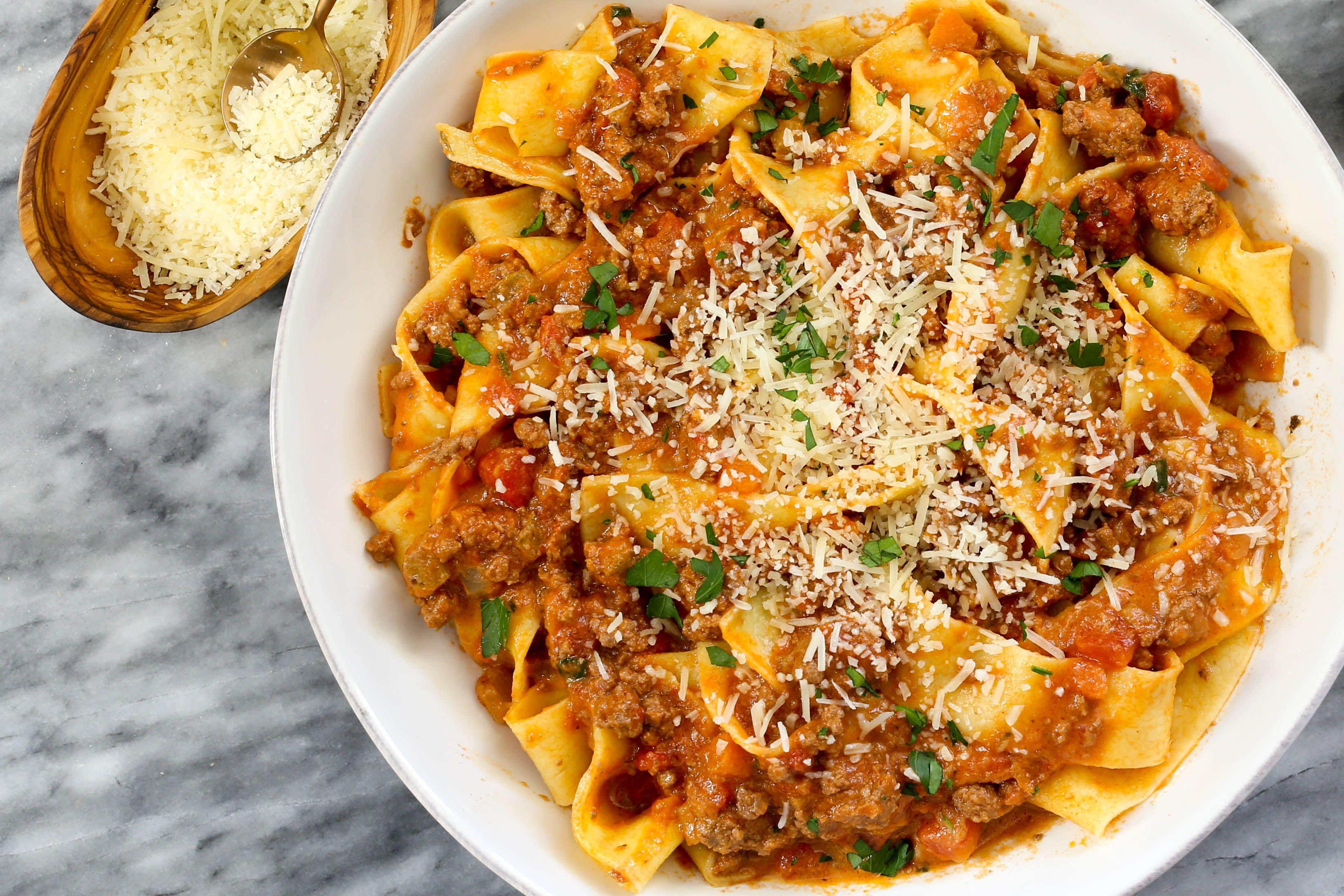 Ragu alla Bolognese with pappardelle pasta