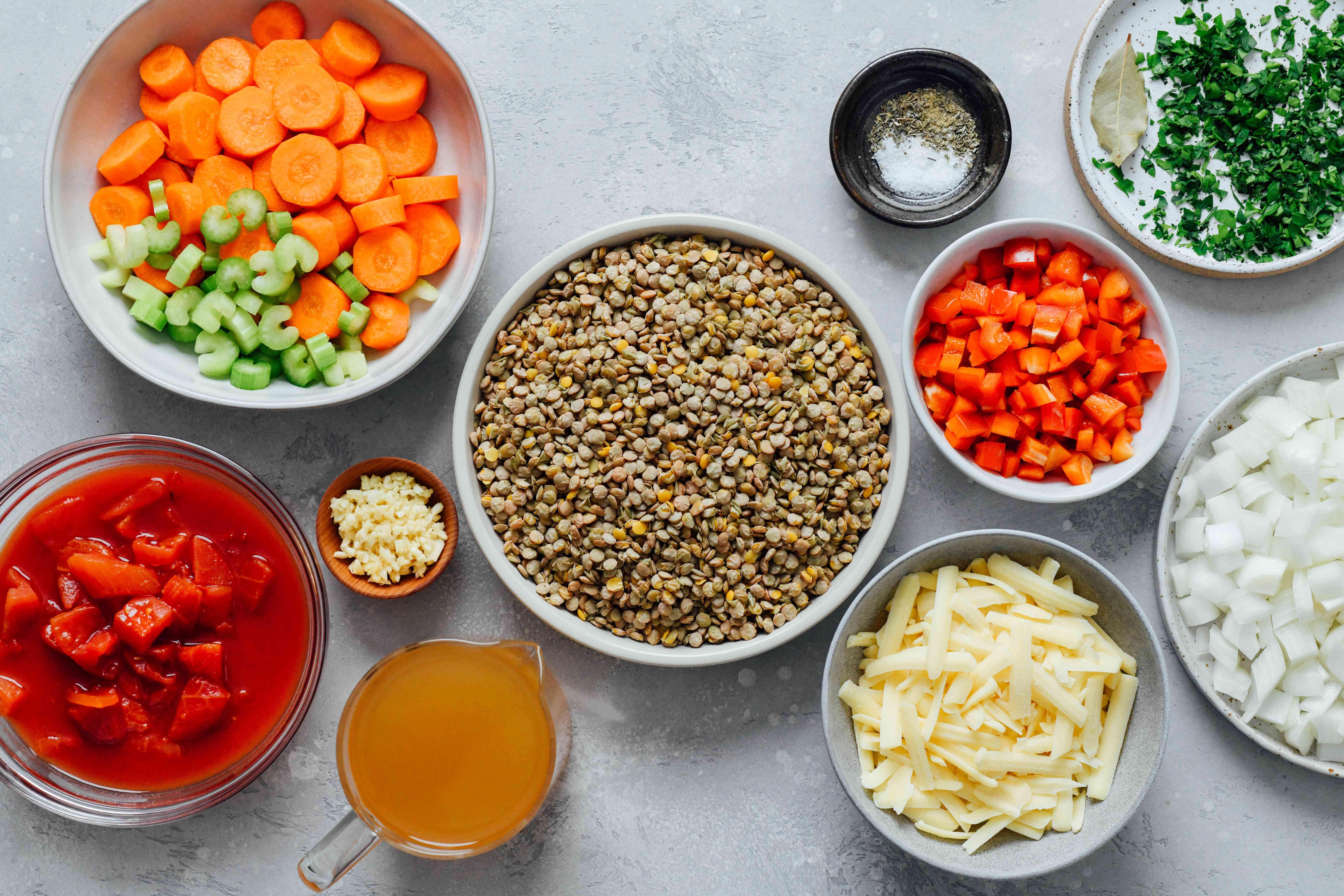 Slow Cooker Lentils ingredients