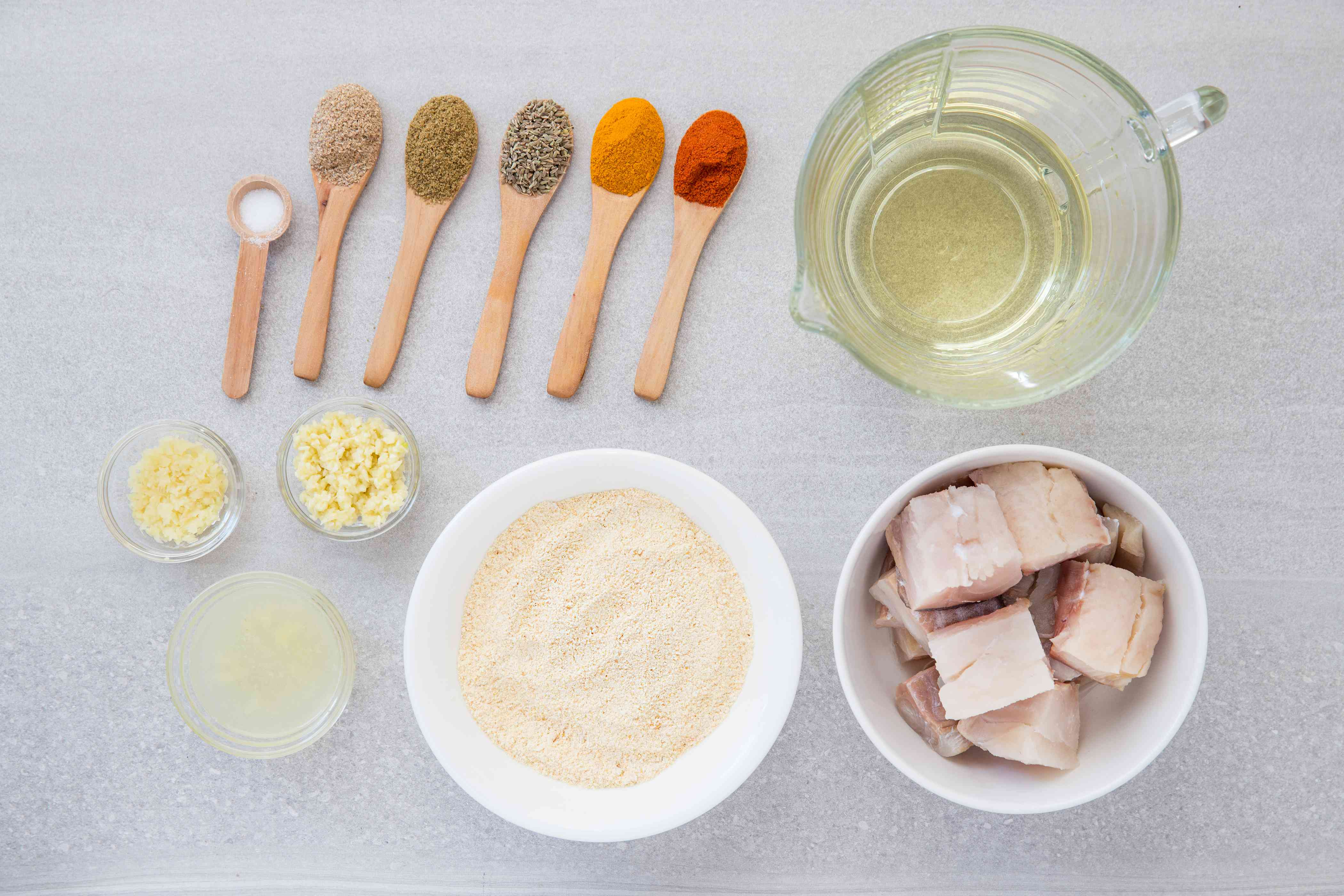 Fish Pakora ingredients