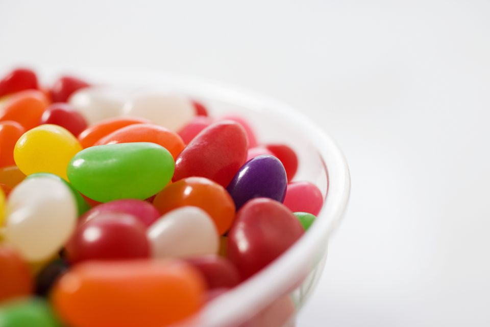 Close up of jelly beans in a bowl