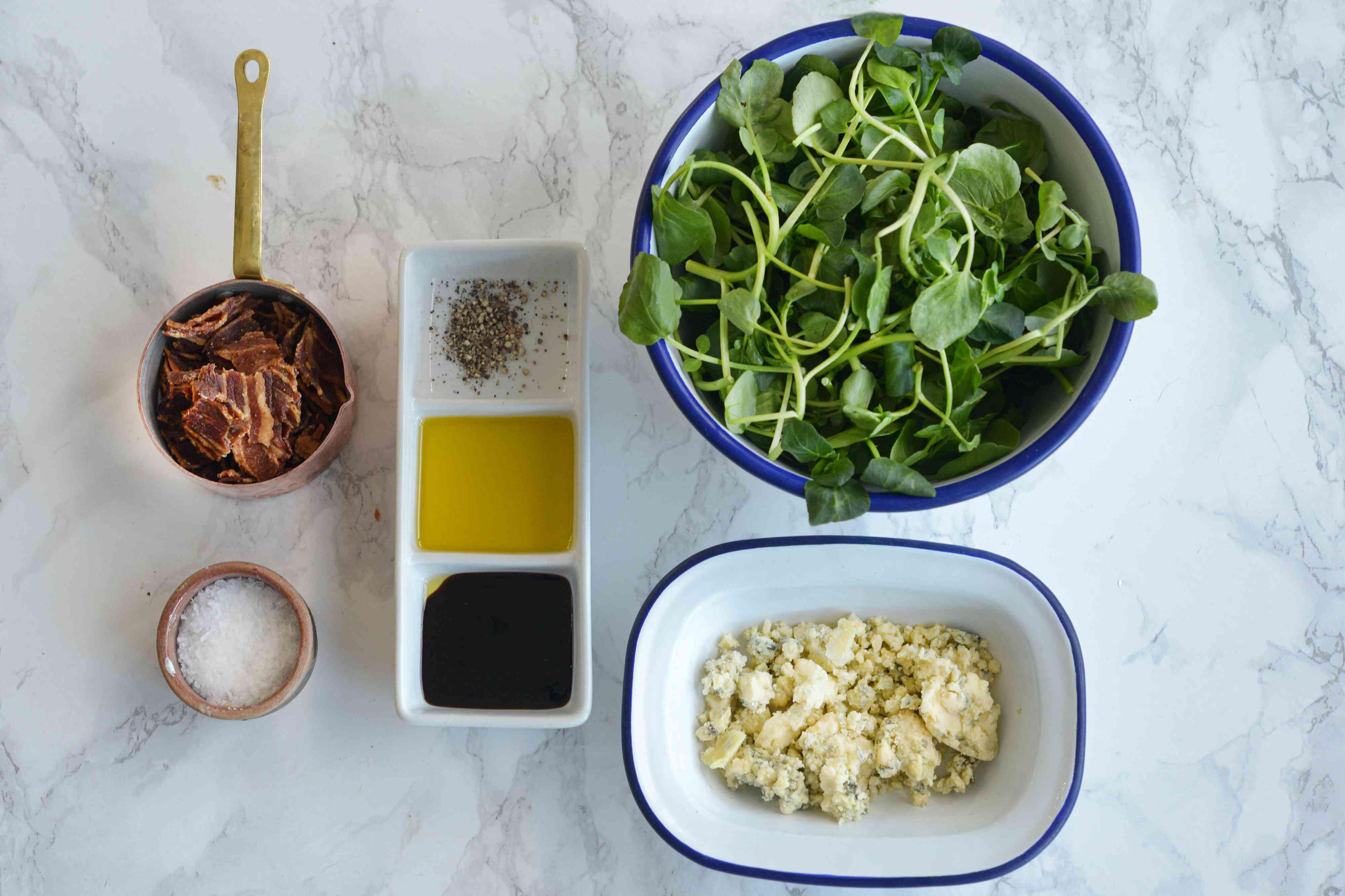 Watercress Salad Gather Ingredients
