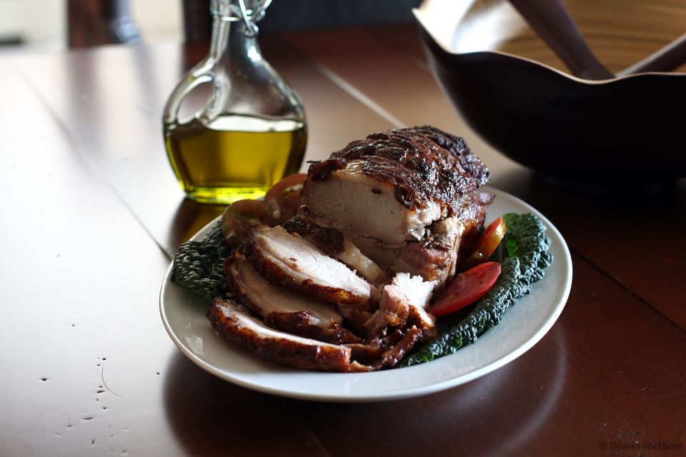 Glazed Pork Loin Roast on plate