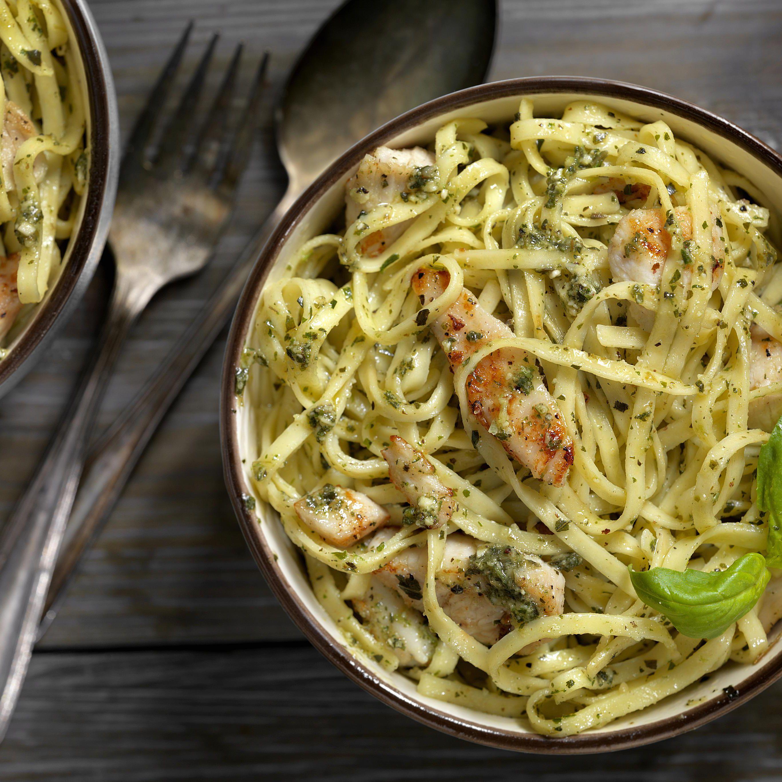 Chicken and Pasta With Lemon Pesto Recipe