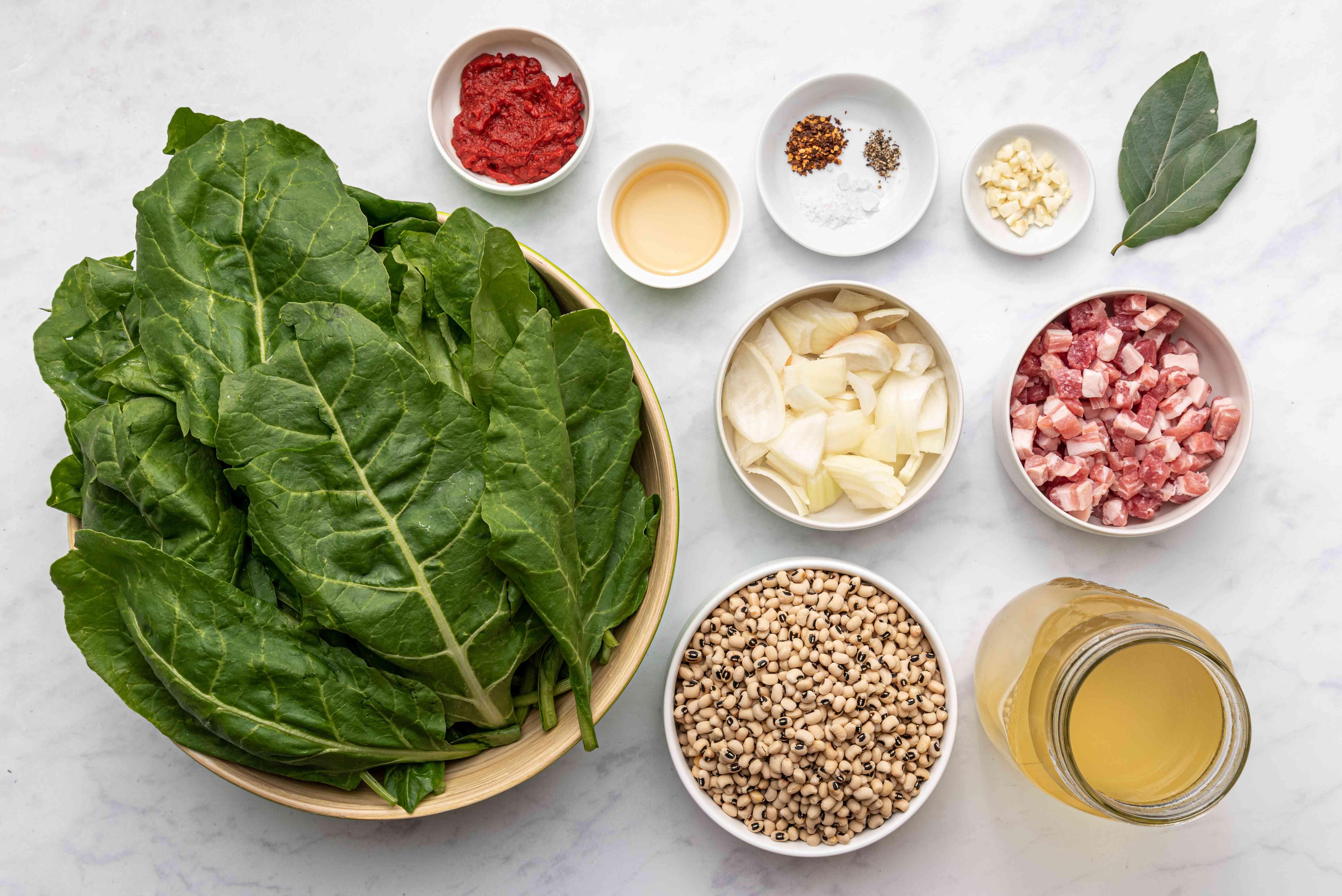 Slow Cooker Black-Eyed Peas and Collard Greens ingredients