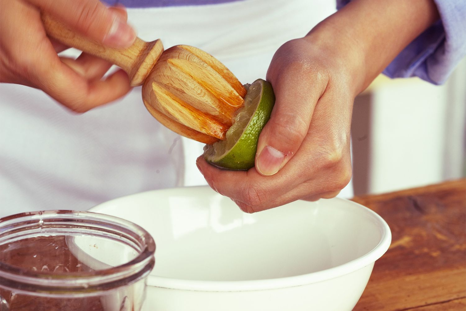 Use a citrus reamer to get fresh juice from fruits.