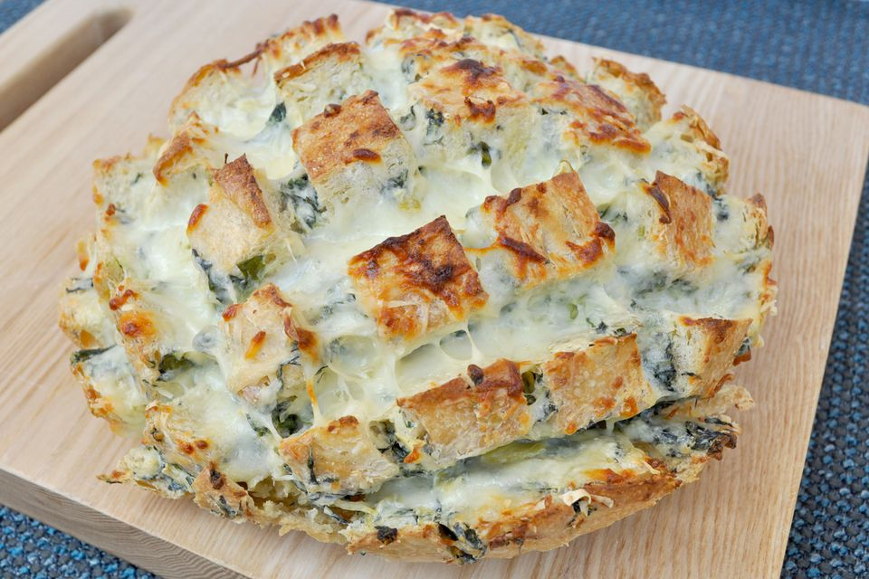 spinach and artichoke bread