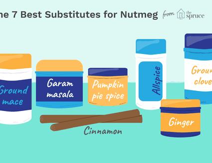 Illustration of nutmeg substitutes