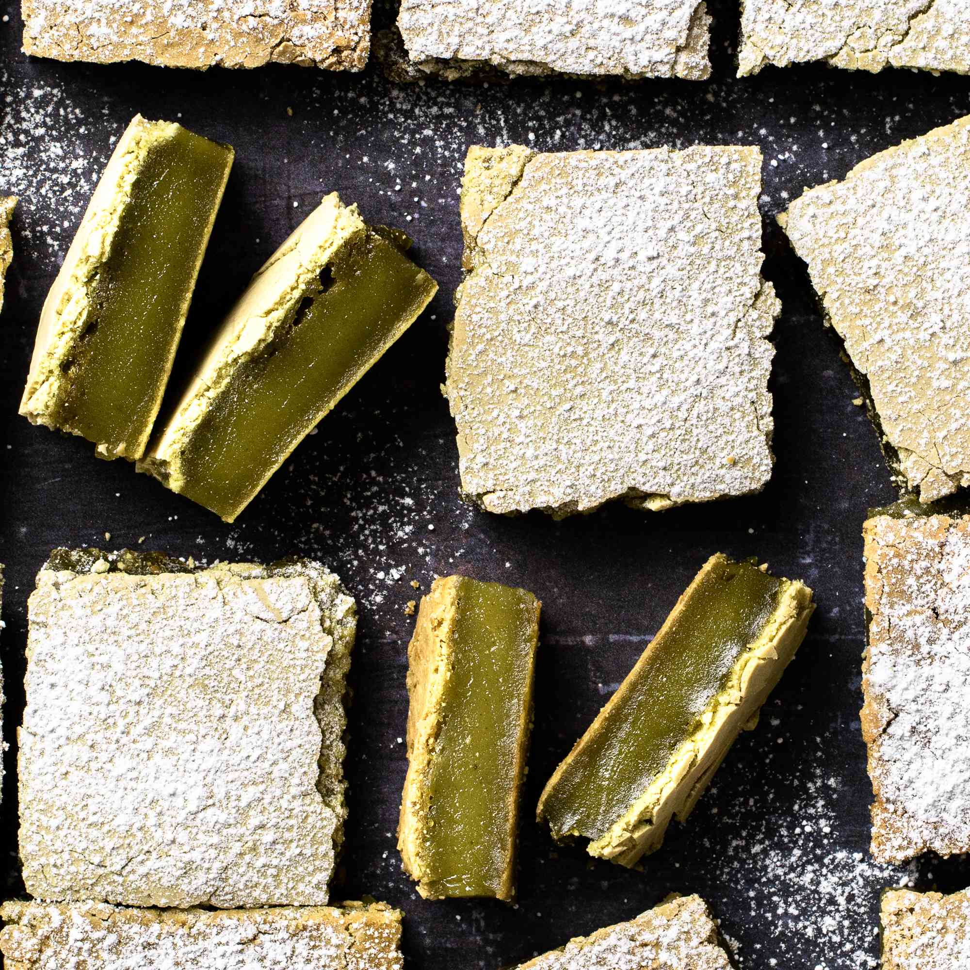 Matcha (Green Tea) Mochi Bars