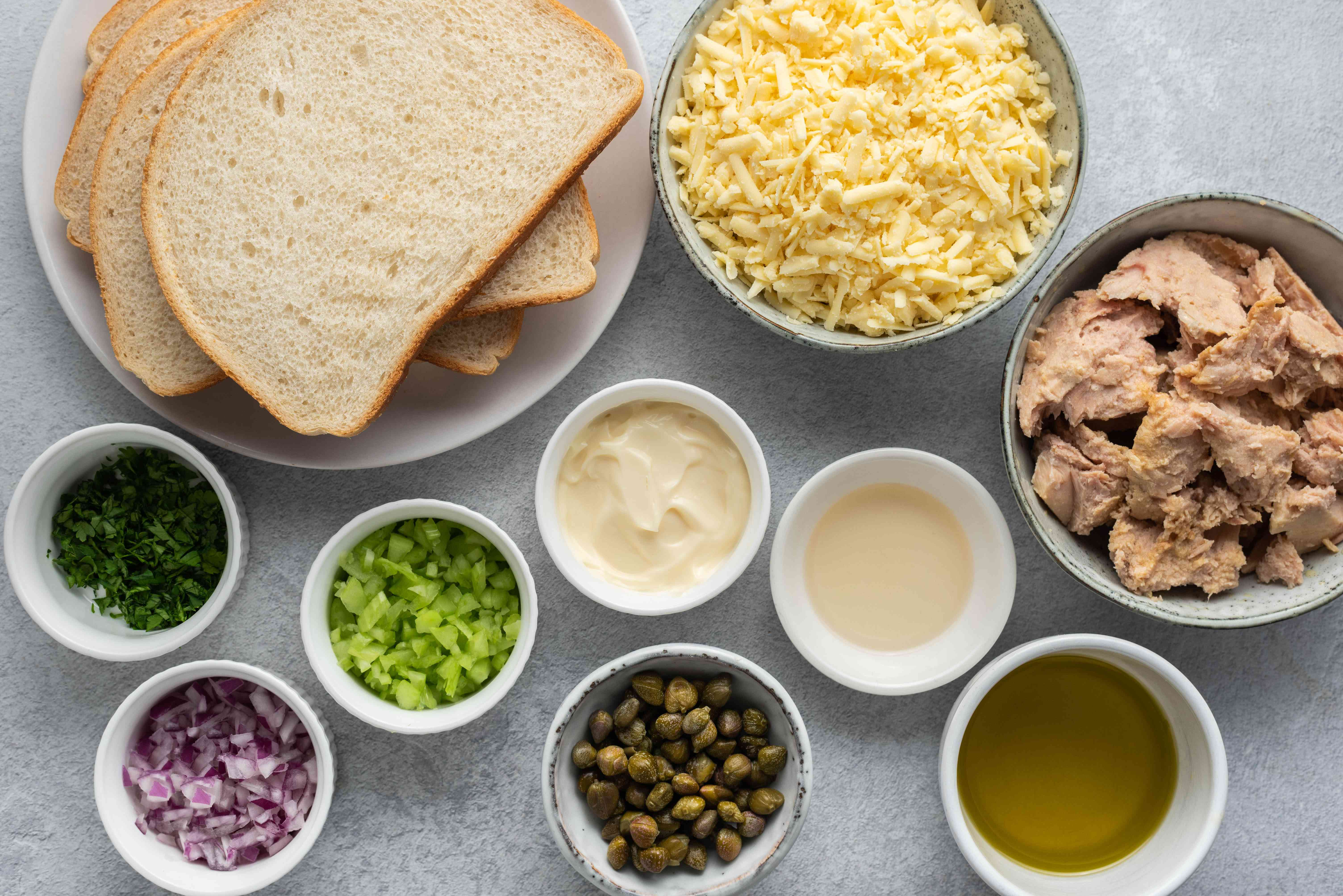 The Ultimate Tuna Melt ingredients