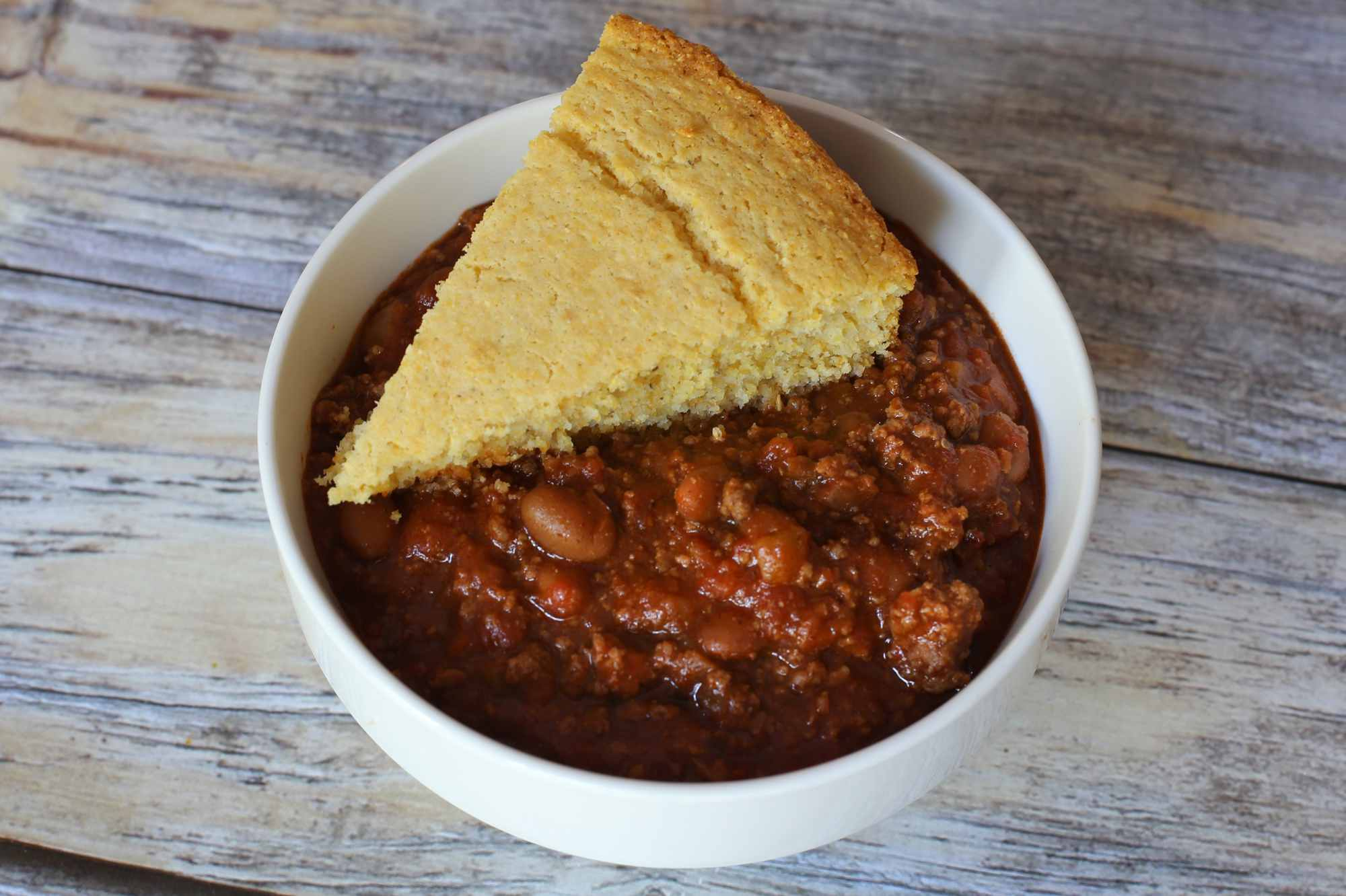 Image result for chili with cornbread
