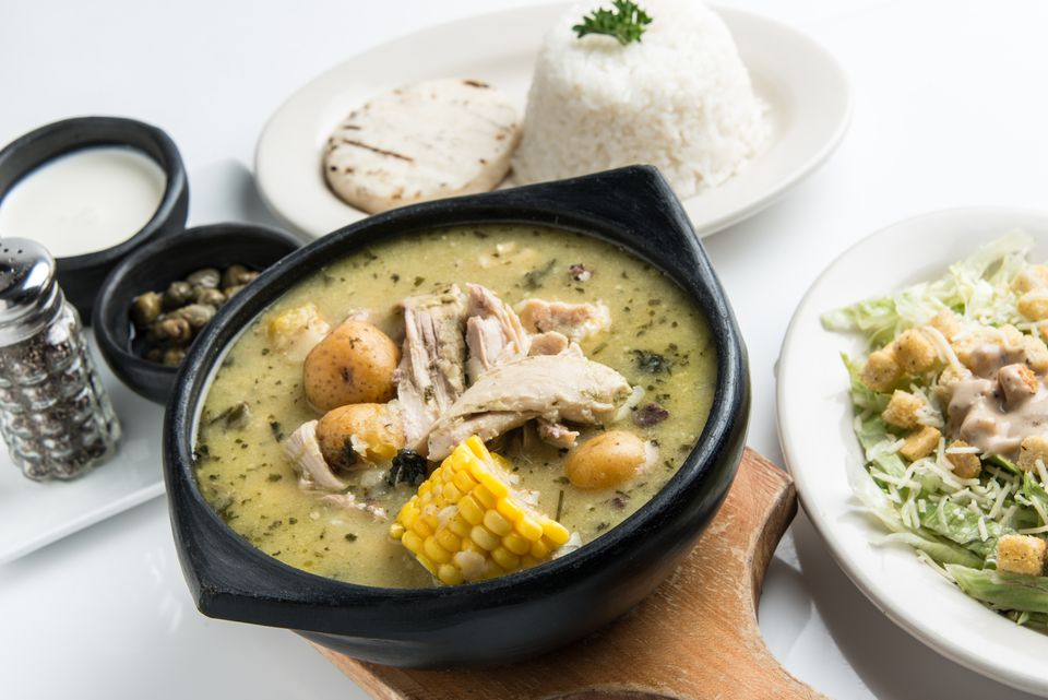Ajiaco (Colombian chicken potato soup)