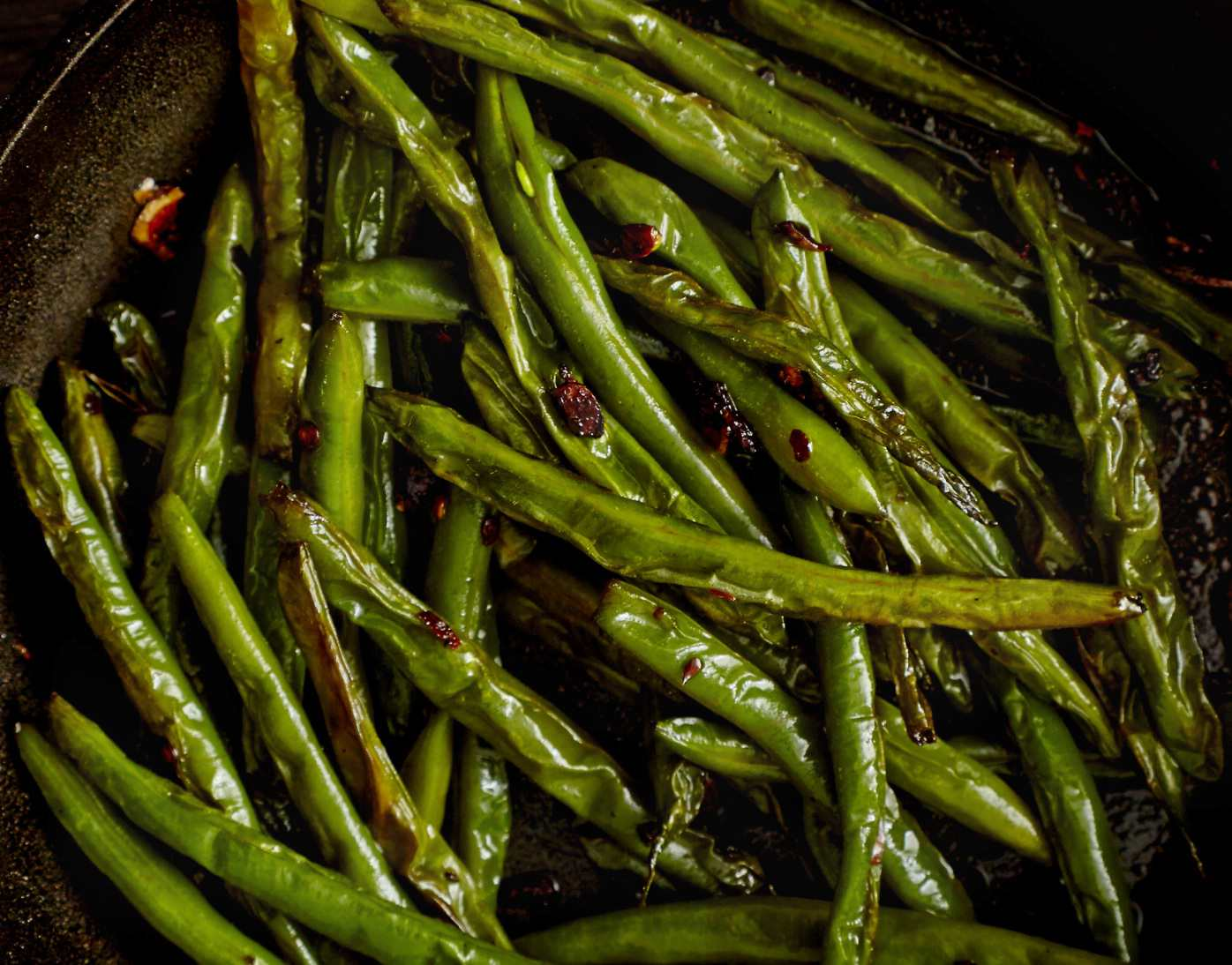 Sauteed Asian green beans