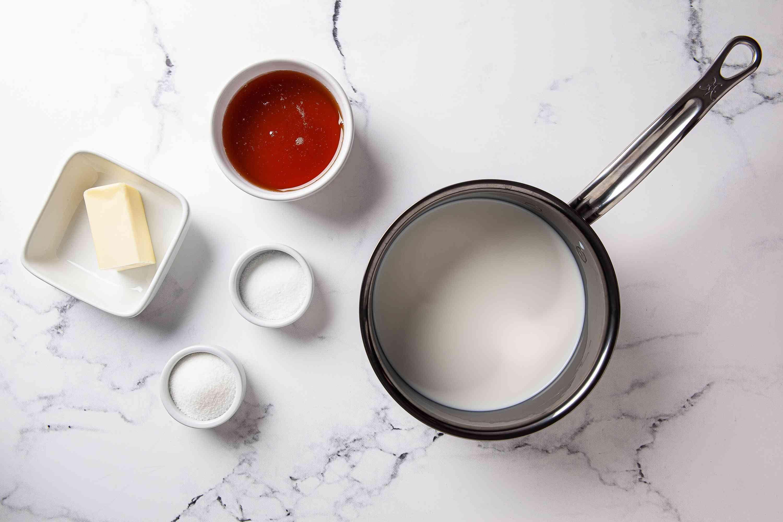 Melt butter in milk