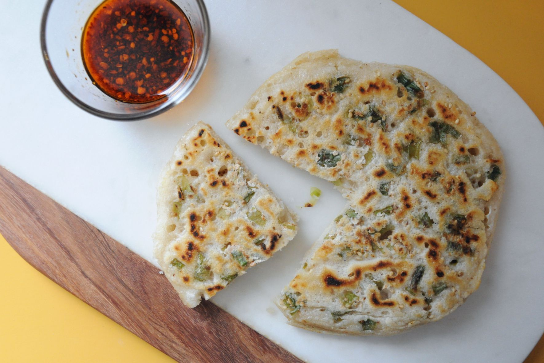 Tired of Wasting Sourdough Starter? Make This Super Easy Scallion Pancake
