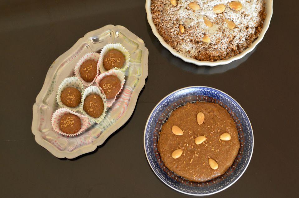 Moroccan Confection of Sellou (Sfouf)