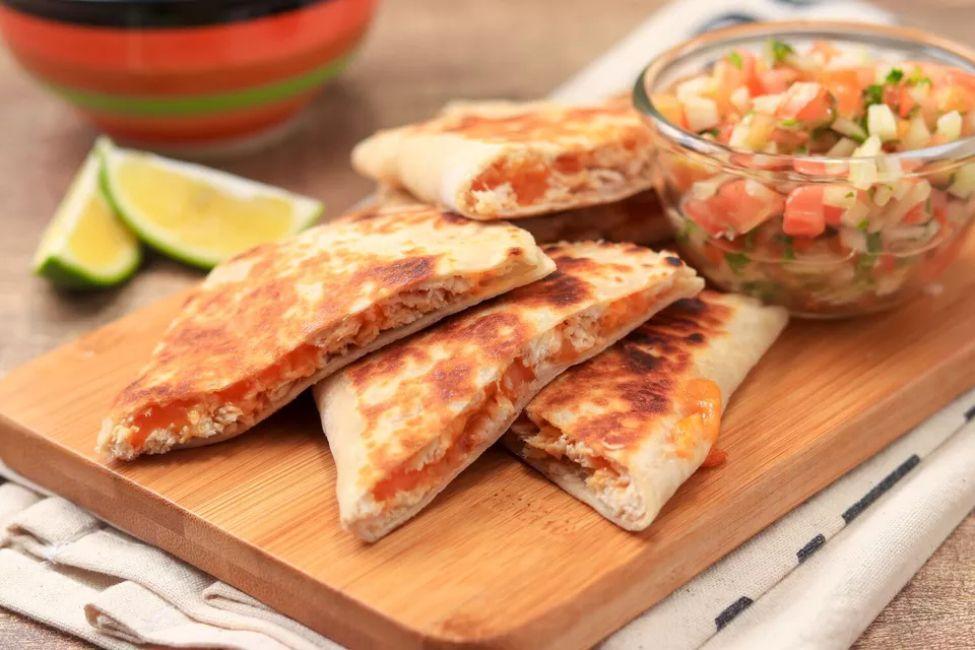 Leftover Chicken Quesadillas